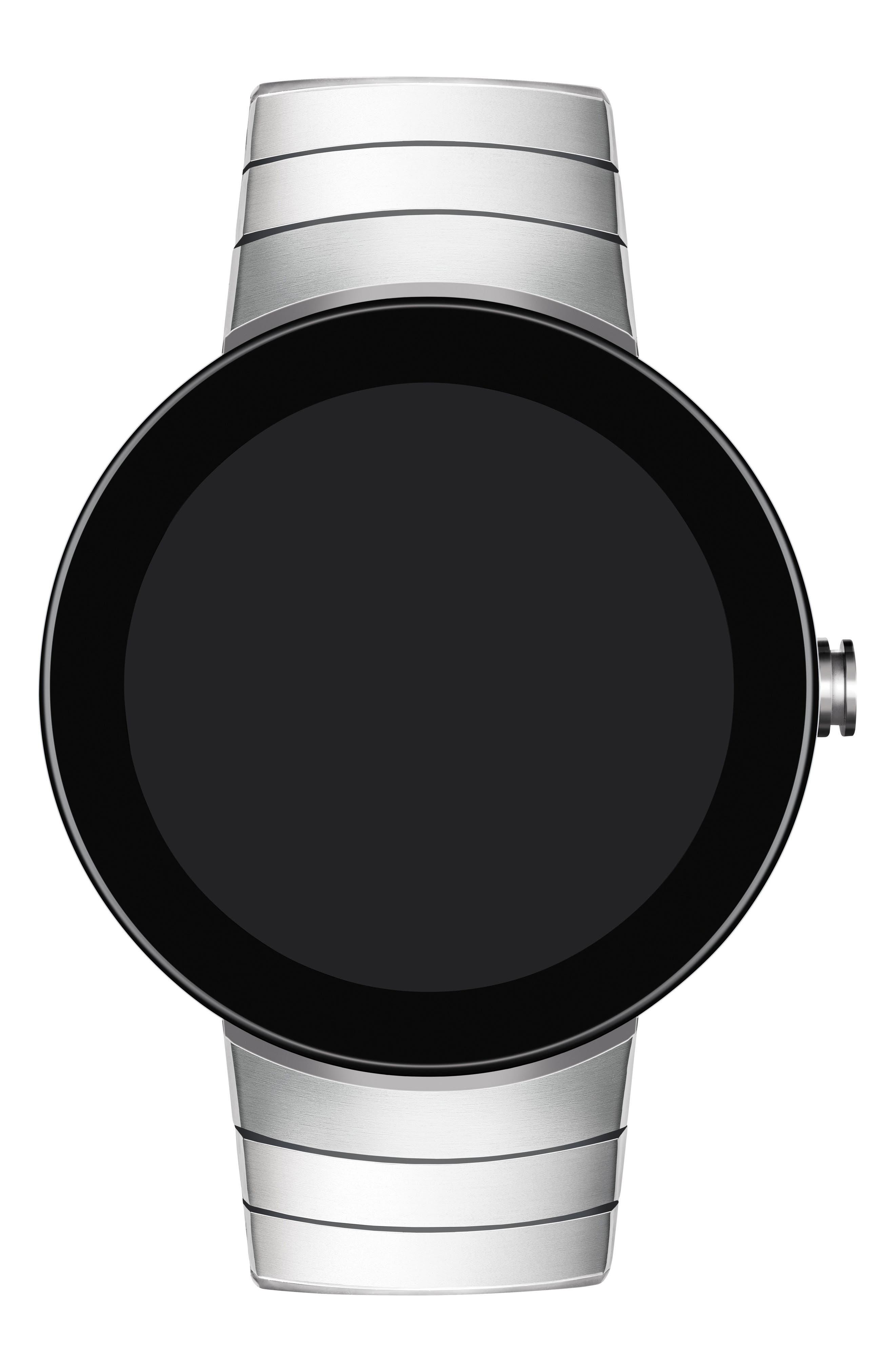 Connect Bracelet Smart Watch, 46mm,                             Main thumbnail 1, color,                             SILVER