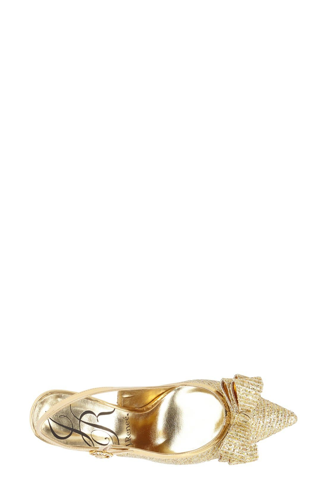 'Charise' Slingback Pump,                             Alternate thumbnail 3, color,                             GOLD
