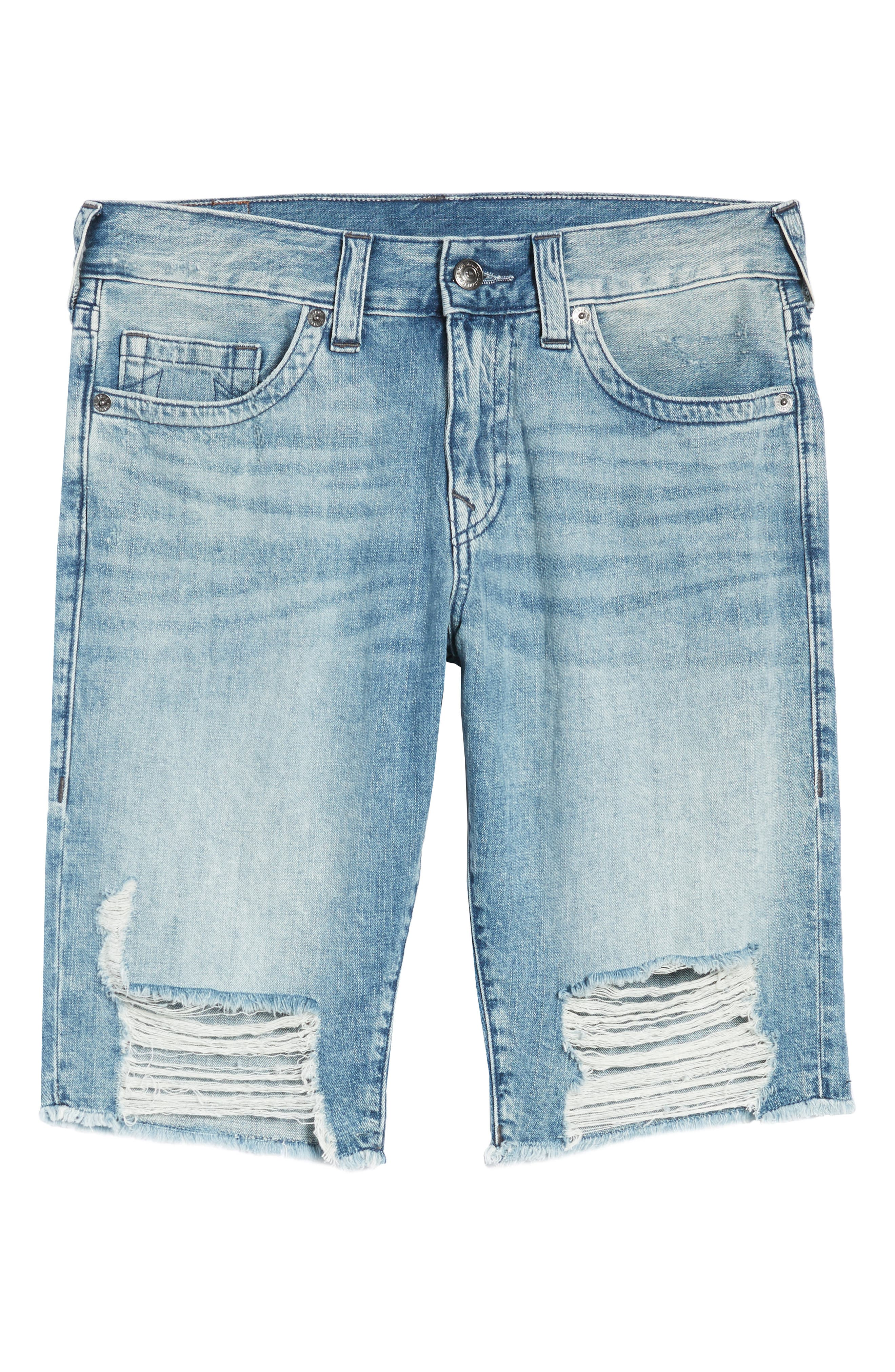 Ricky Relaxed Fit Shorts,                             Alternate thumbnail 6, color,                             SOLAR BLUE