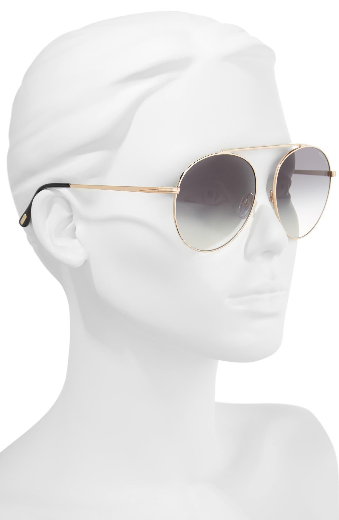 Simone 58mm Gradient Mirrored Round Sunglasses,                             Alternate thumbnail 2, color,                             710
