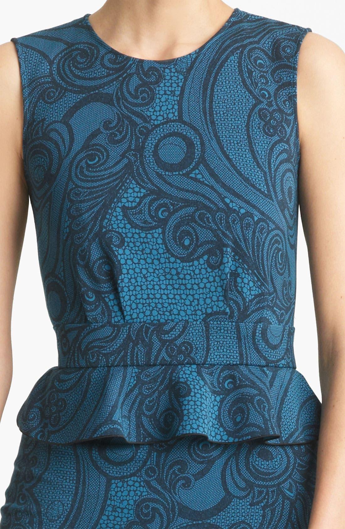 Peplum Jersey Dress,                             Alternate thumbnail 3, color,