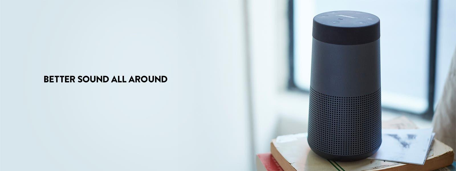 Better sound all around: Bose SoundLink Revolve Bluetooth speaker.
