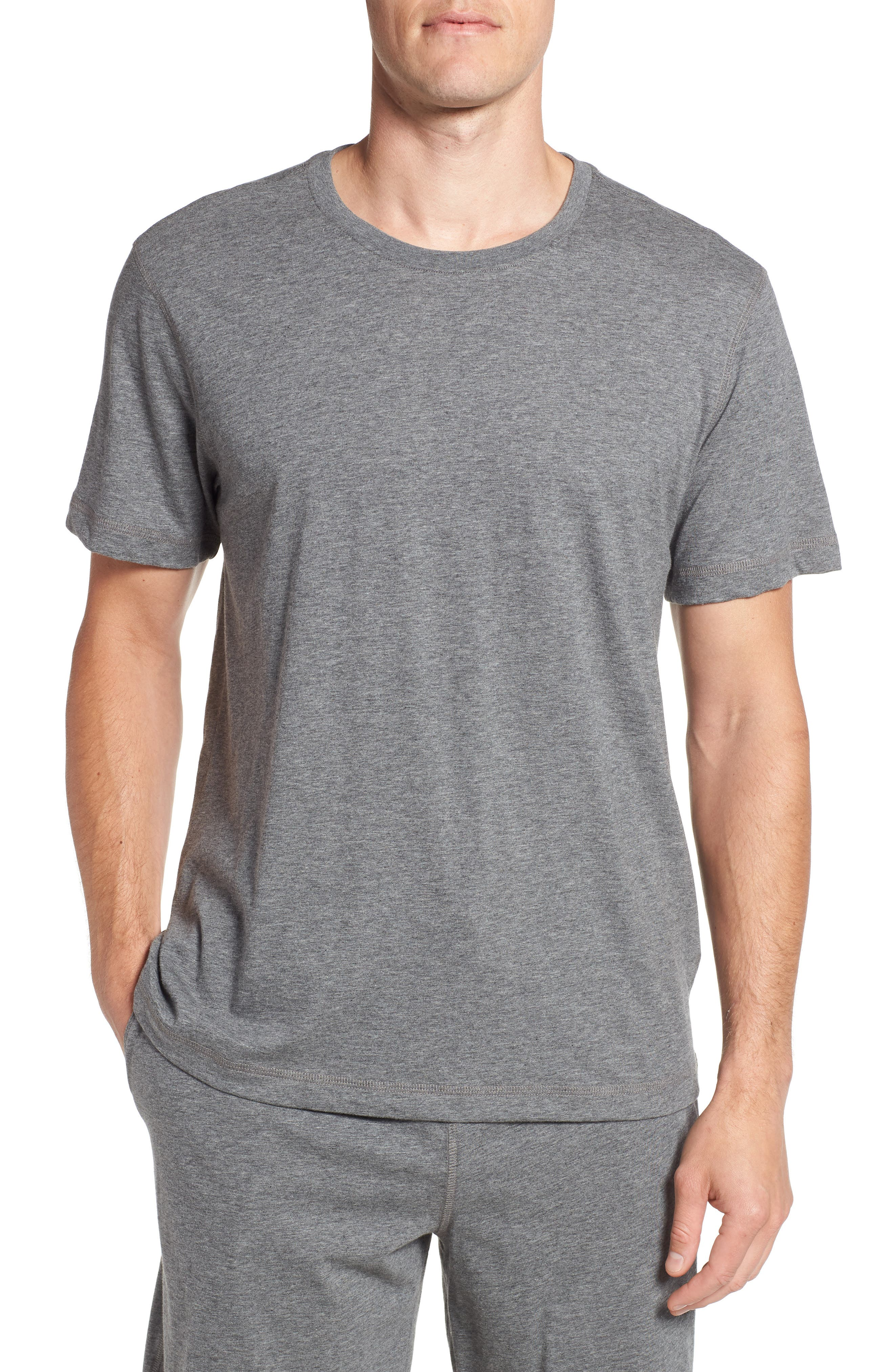 Peruvian Pima Cotton T-Shirt,                         Main,                         color, CHARCOAL HEATHER