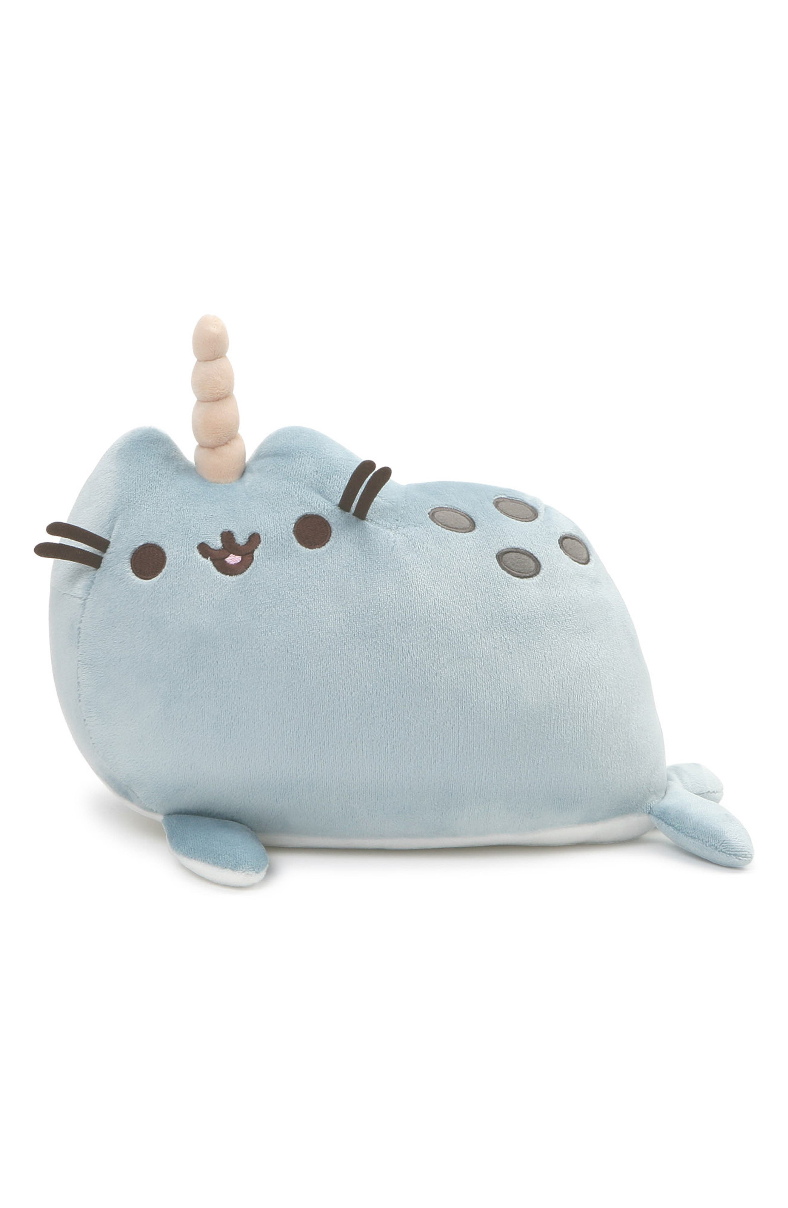 Pusheen Narwhal Stuffed Animal,                         Main,                         color, BLUE