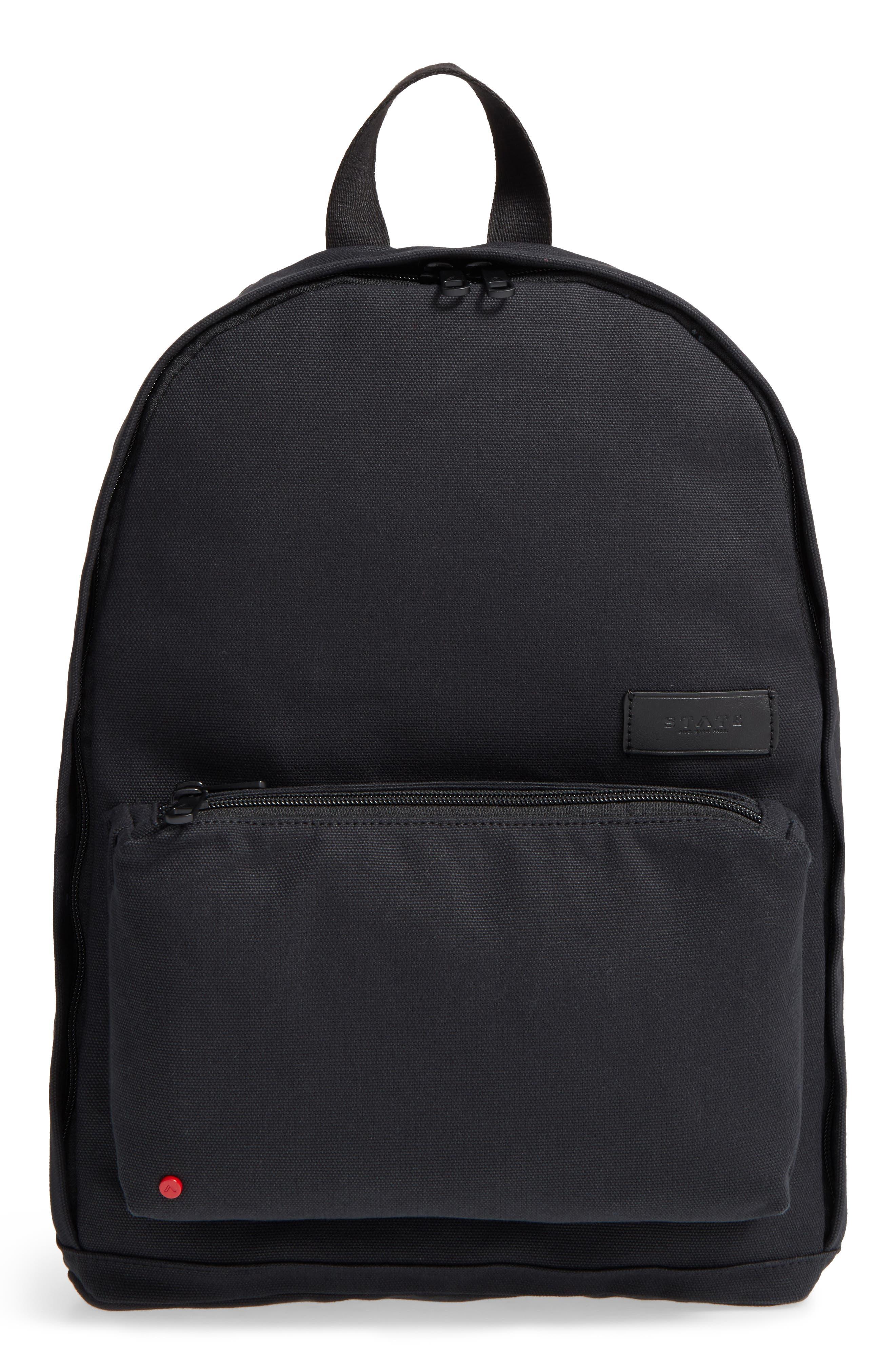Canvas Slim Lorimer Backpack,                         Main,                         color, 001