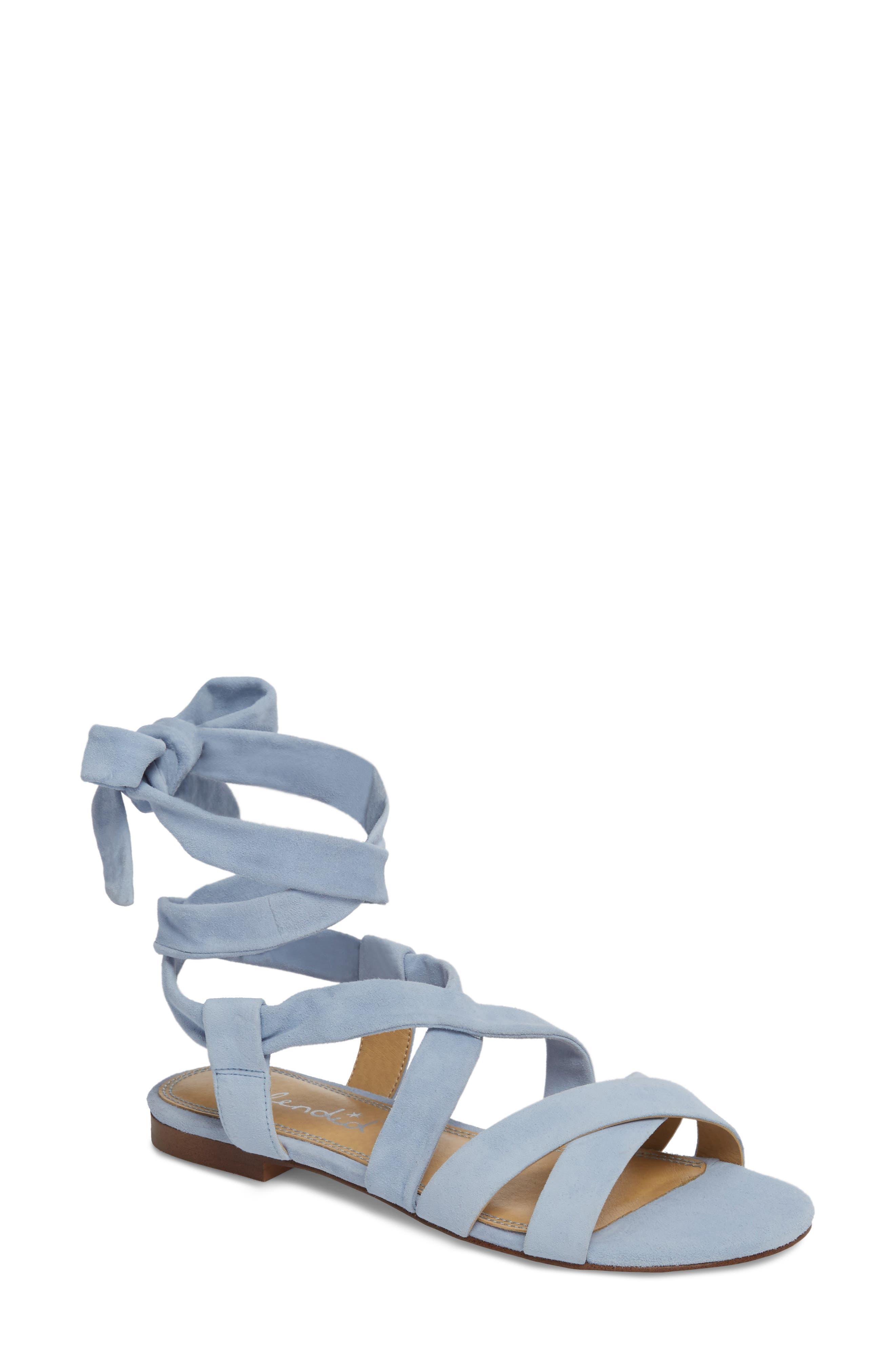 Splendid Feodora Ankle Wrap Sandal, Purple