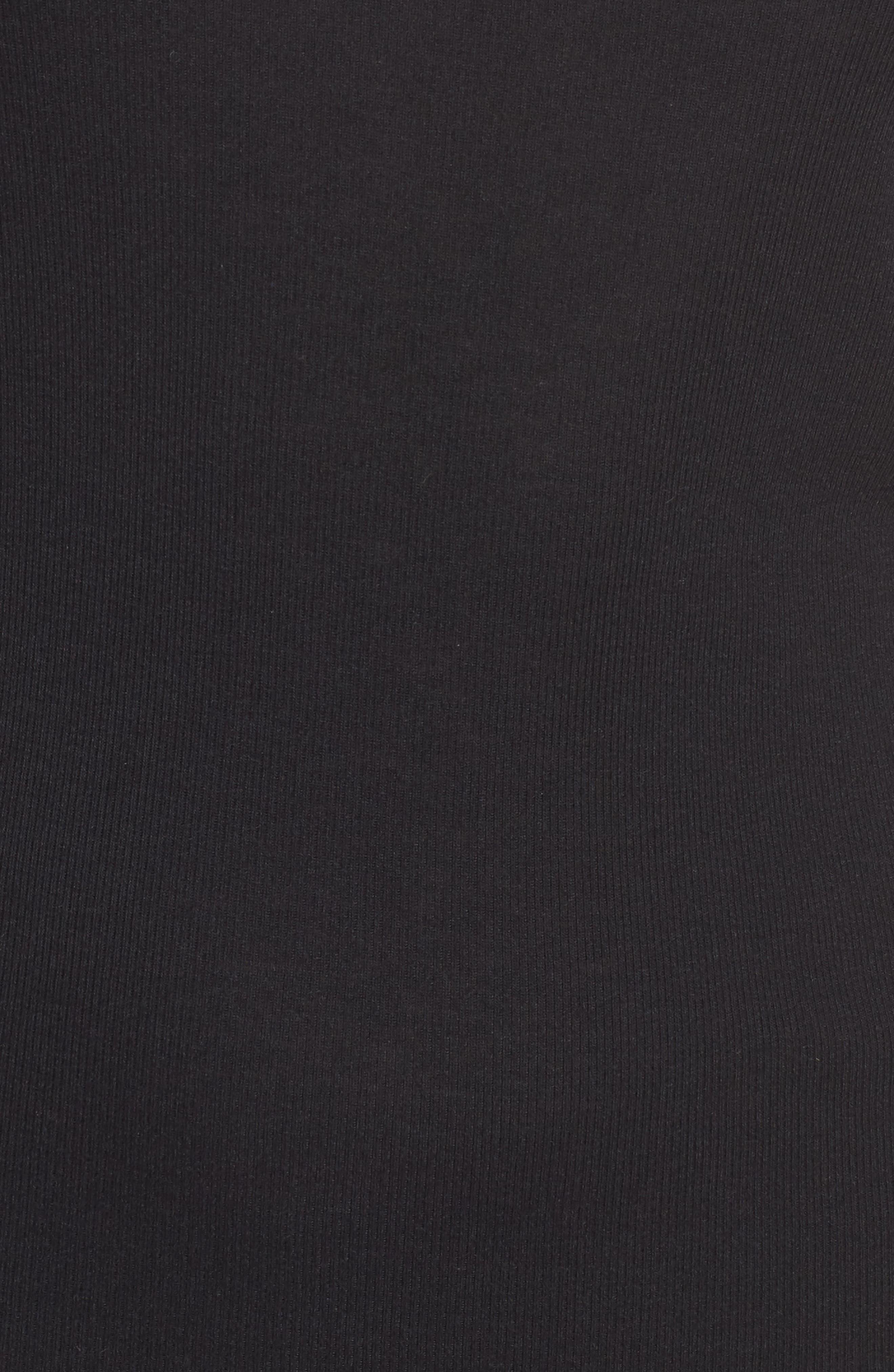 Crewneck Rib Knit Top,                             Alternate thumbnail 5, color,                             001