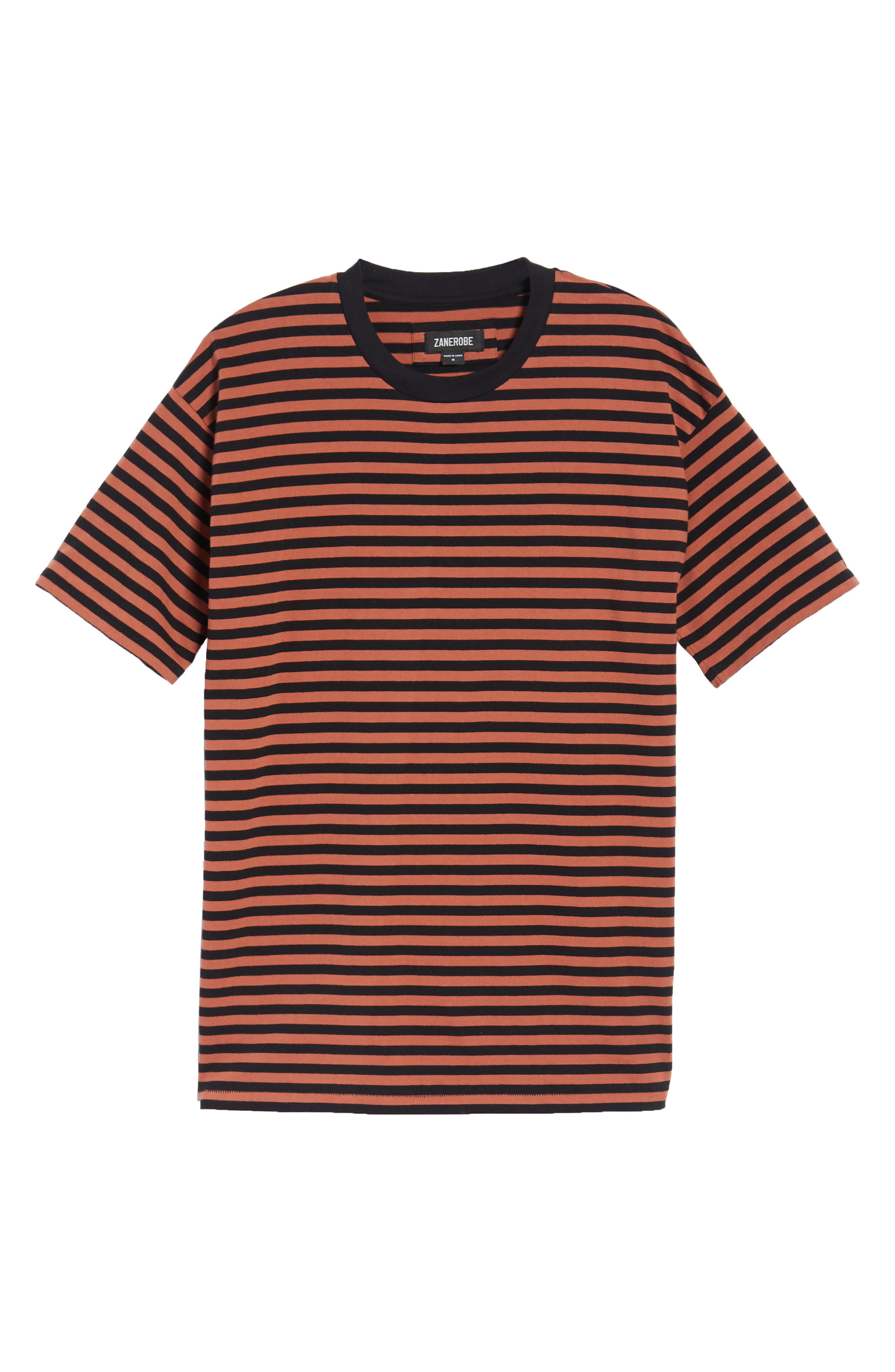 ZABEROBE Stripe Box T-Shirt,                             Alternate thumbnail 6, color,                             BRONZE/ BLACK
