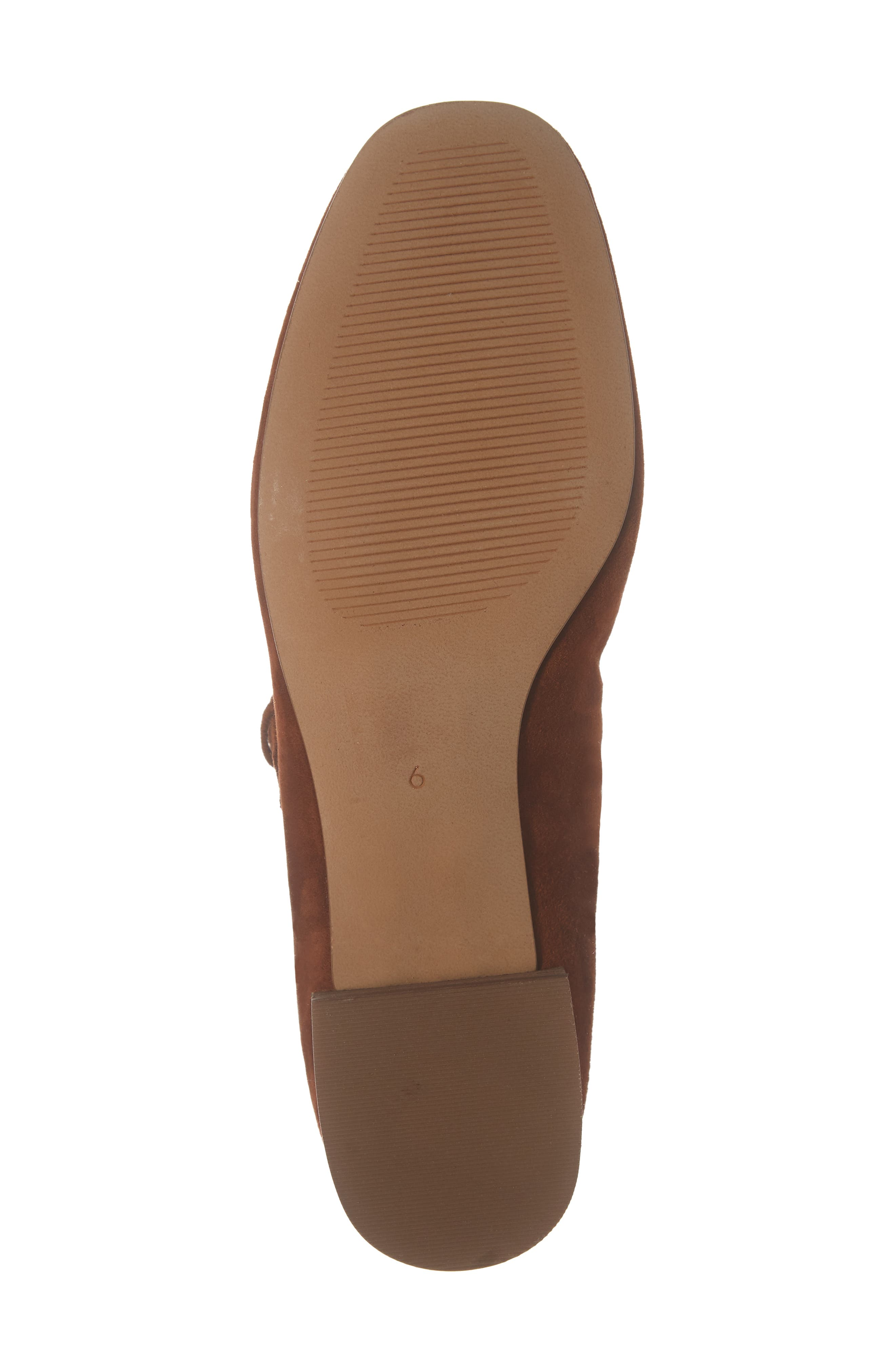 The Delilah Mary Jane Pump,                             Alternate thumbnail 6, color,                             MAPLE SYRUP SUEDE