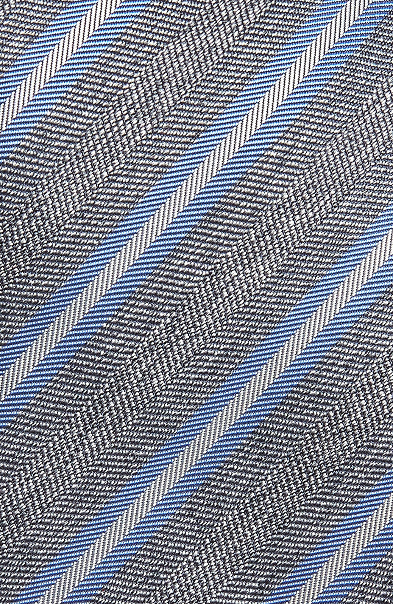 DAVID DONAHUE,                             Stripe Silk & Cotton Tie,                             Alternate thumbnail 2, color,                             020