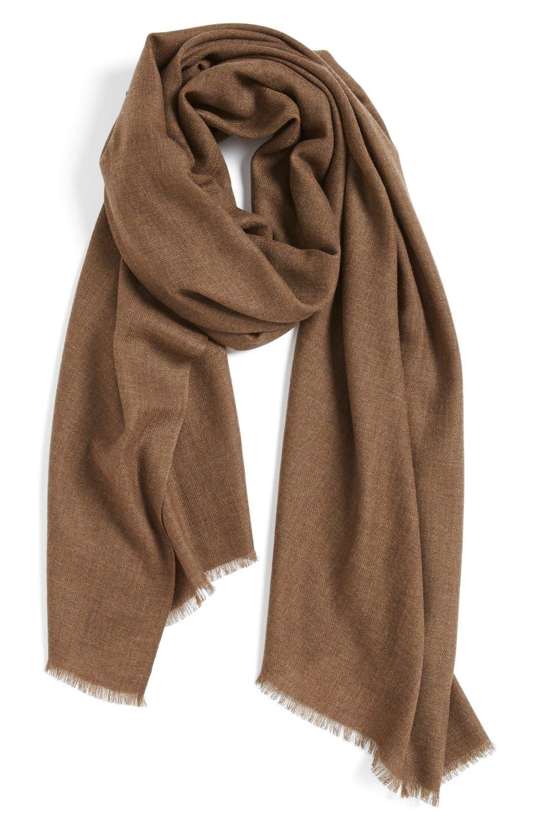 Wool & Cashmere Wrap,                             Main thumbnail 4, color,