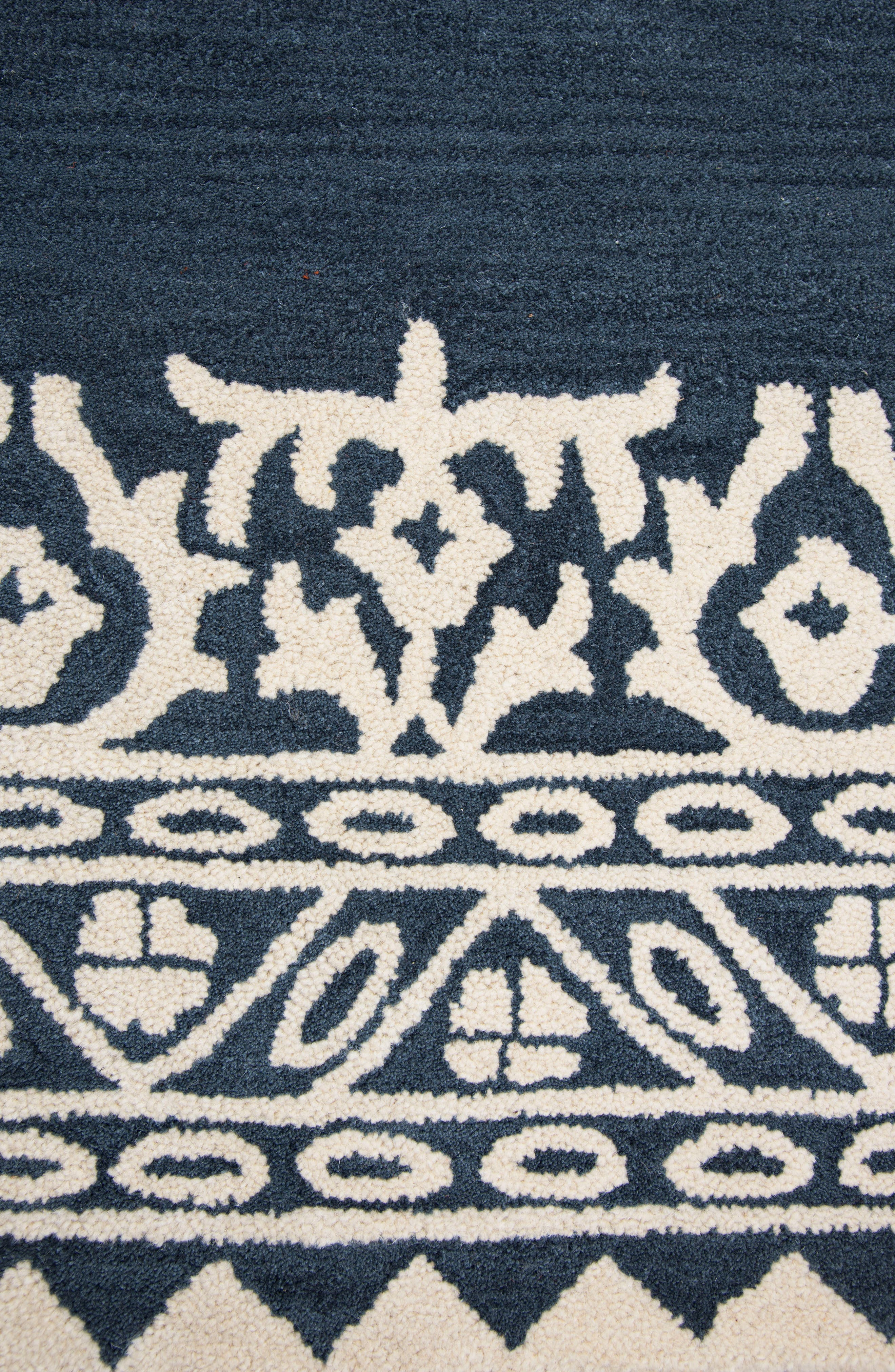 Framed Medallion Hand Tufted Wool Area Rug,                             Alternate thumbnail 2, color,                             400