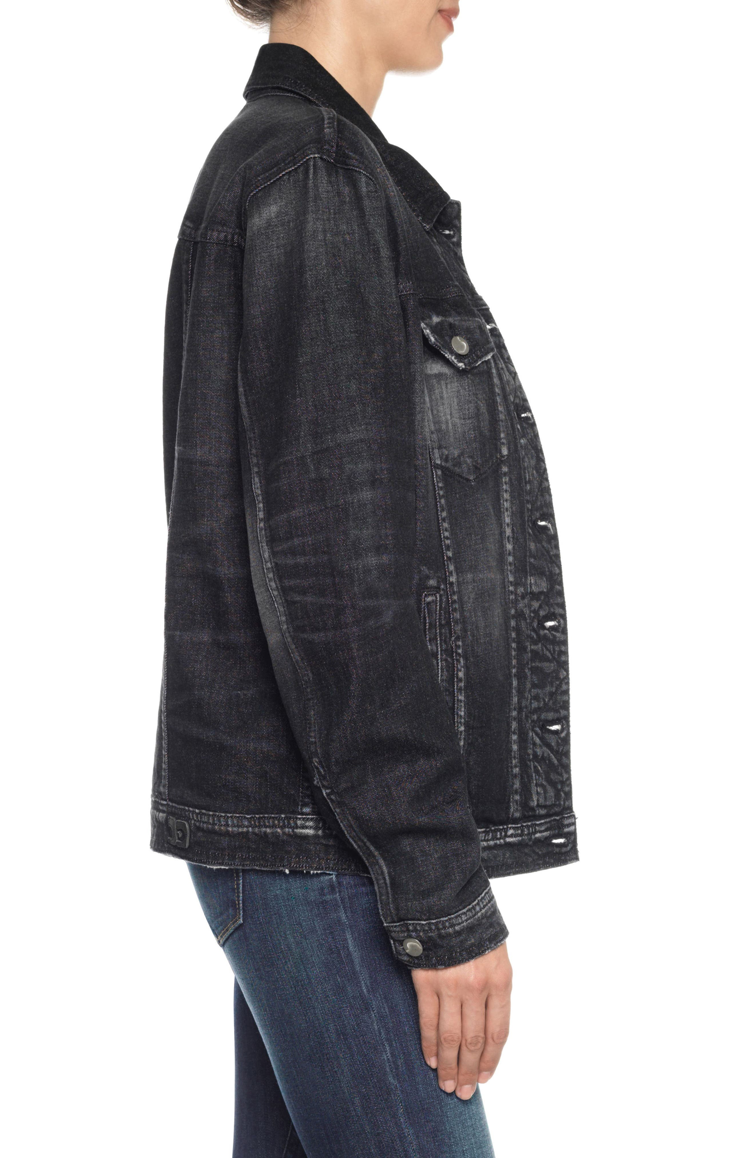 Classics Boyfriend Denim Jacket,                             Alternate thumbnail 3, color,