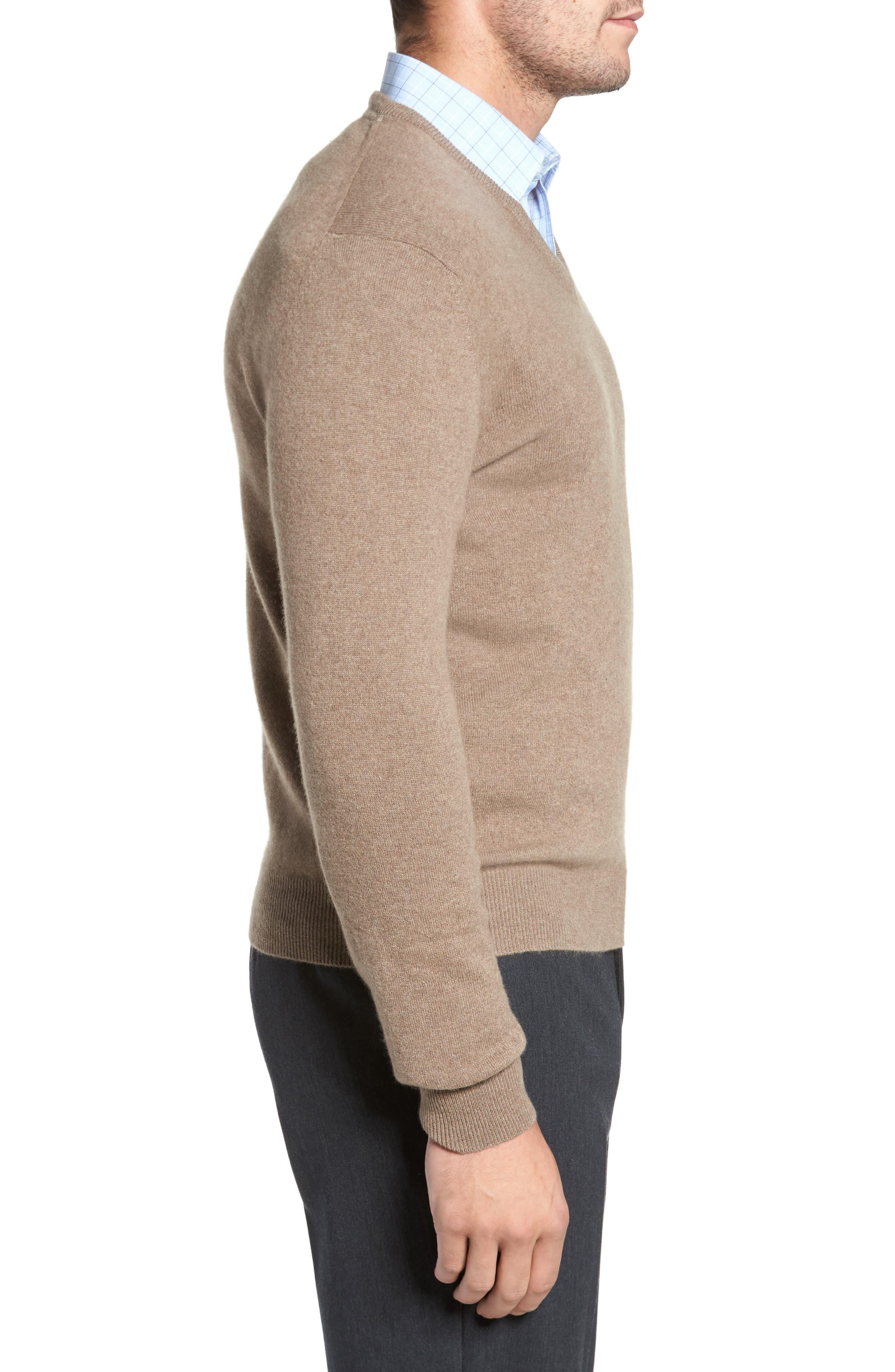 Cashmere V-Neck Sweater,                             Alternate thumbnail 15, color,