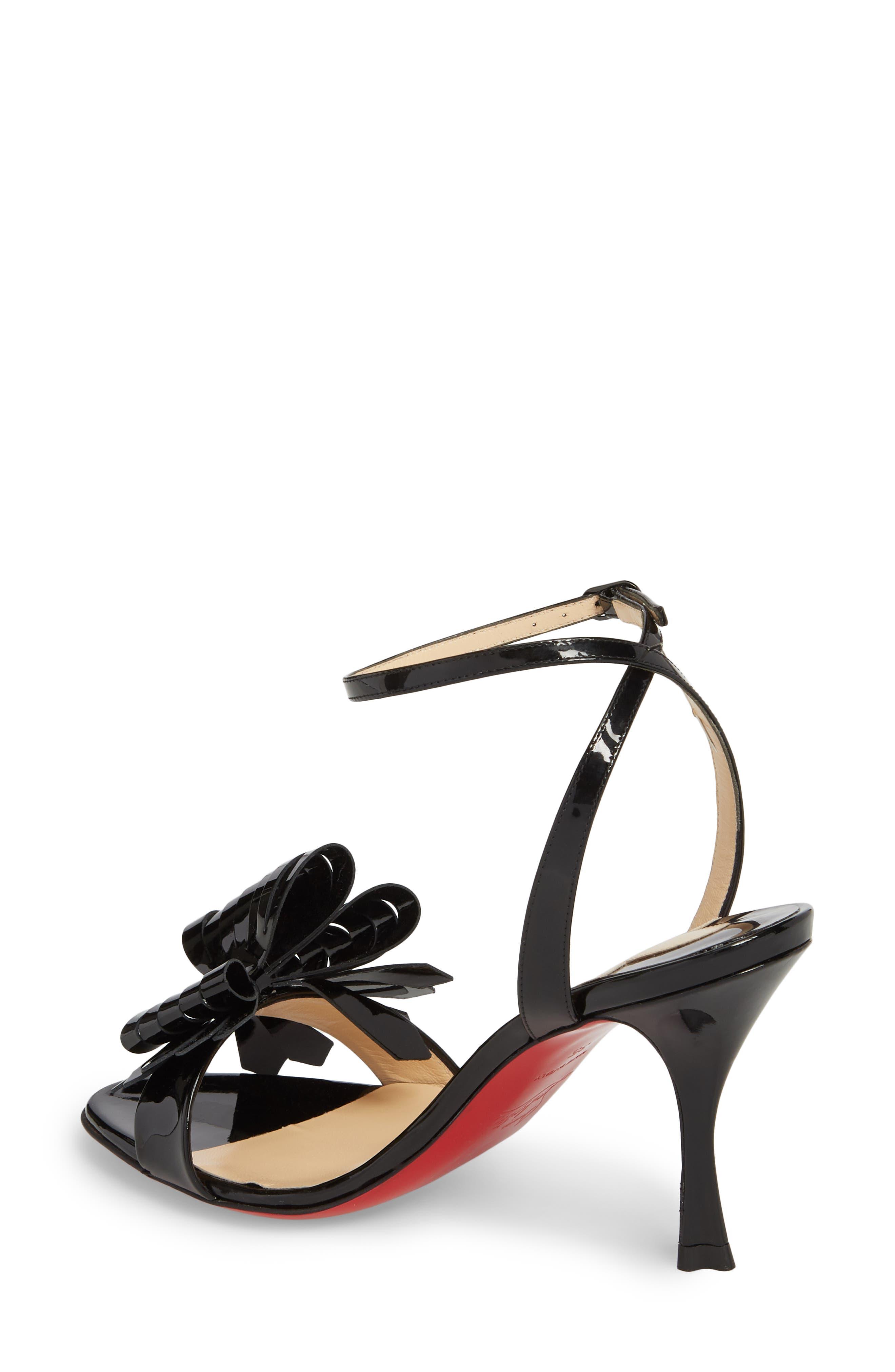 Miss Valois Bow Ankle Strap Sandal,                             Alternate thumbnail 3, color,