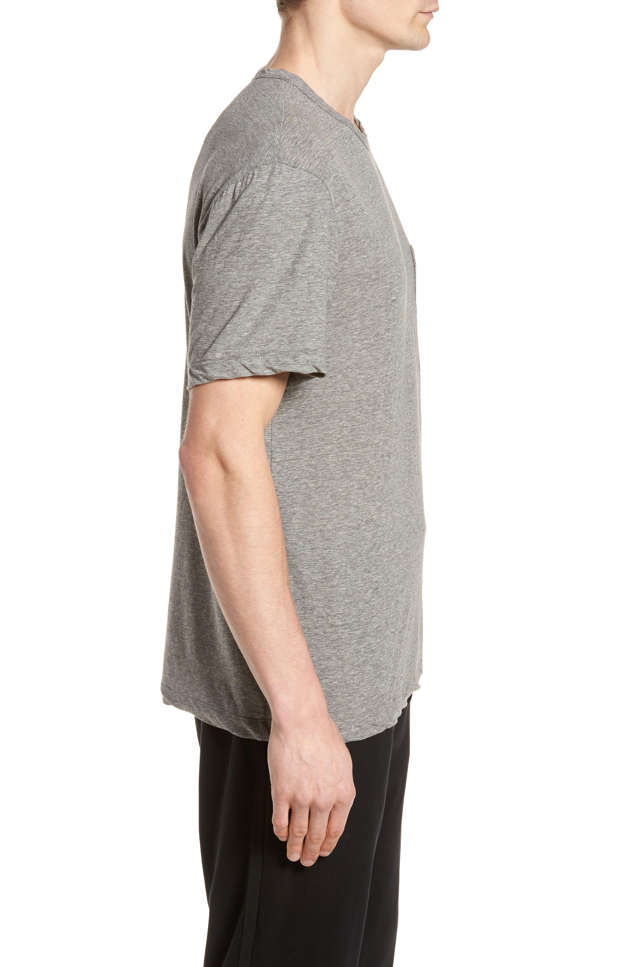 High Twist Regular Fit T-Shirt,                             Alternate thumbnail 3, color,                             HEATHER GREY