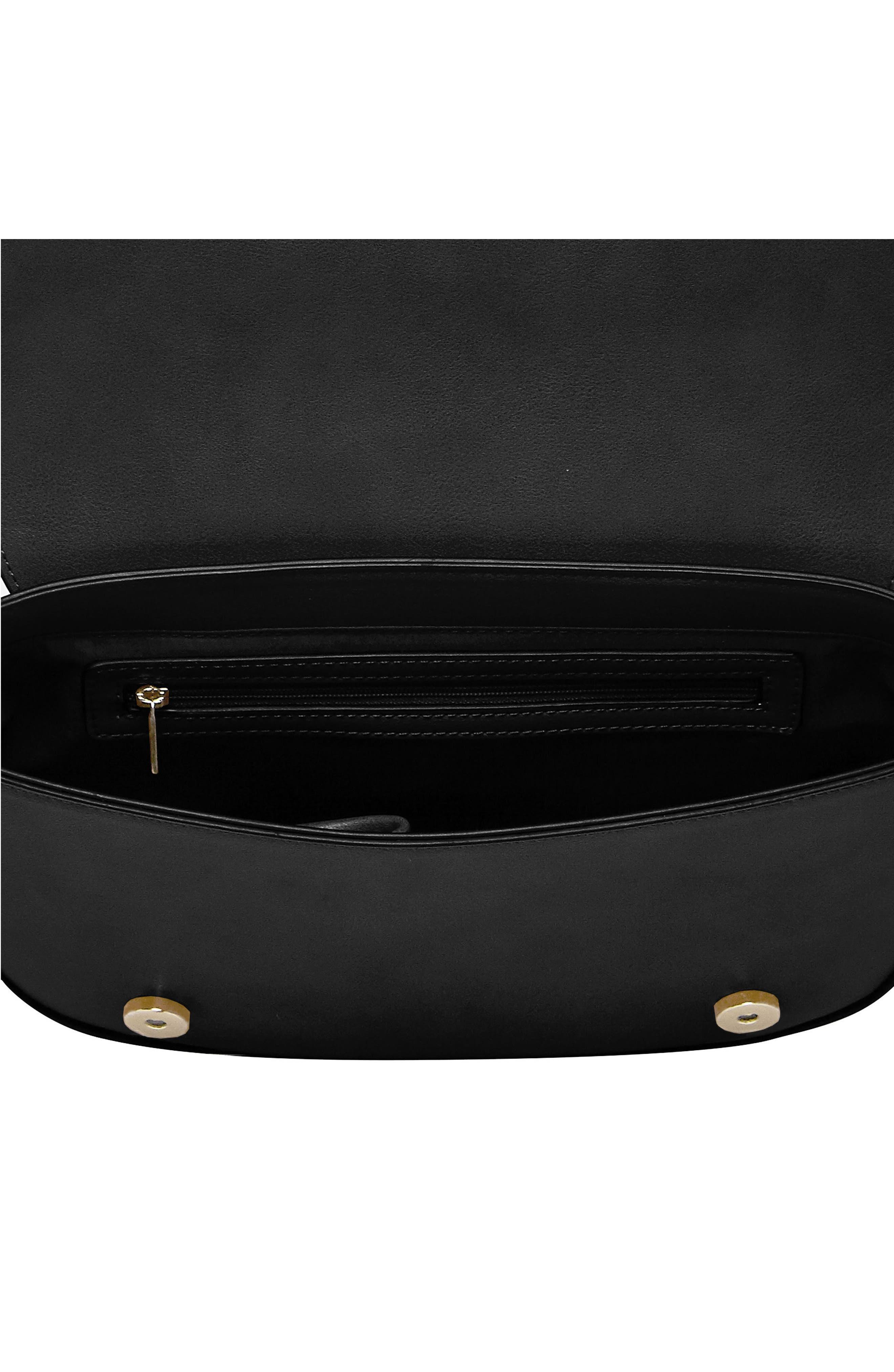 Lola Vegan Leather Crossbody Saddle Bag,                             Alternate thumbnail 2, color,                             001