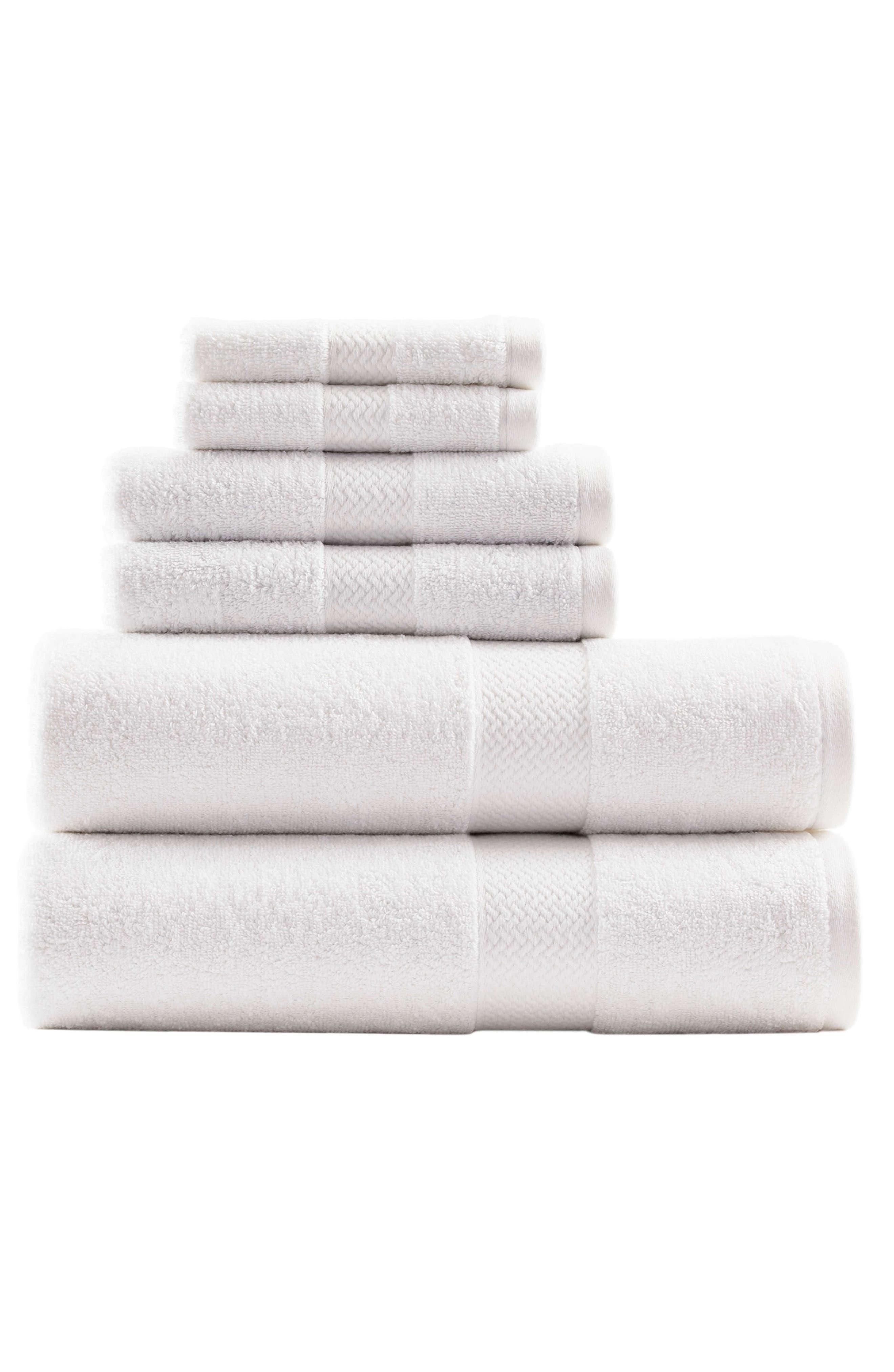 Cypress Bay 6-Piece Towel Set,                             Main thumbnail 1, color,                             WHITE