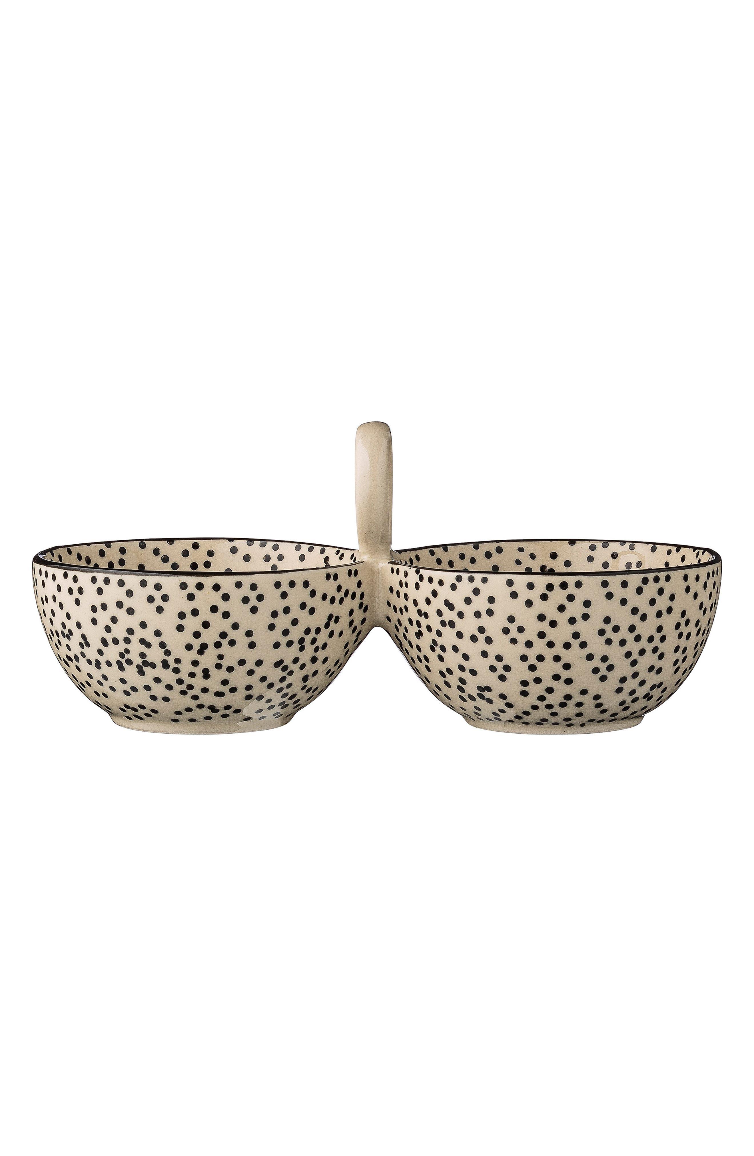 Julie Ceramic Double Bowl,                             Main thumbnail 1, color,                             100