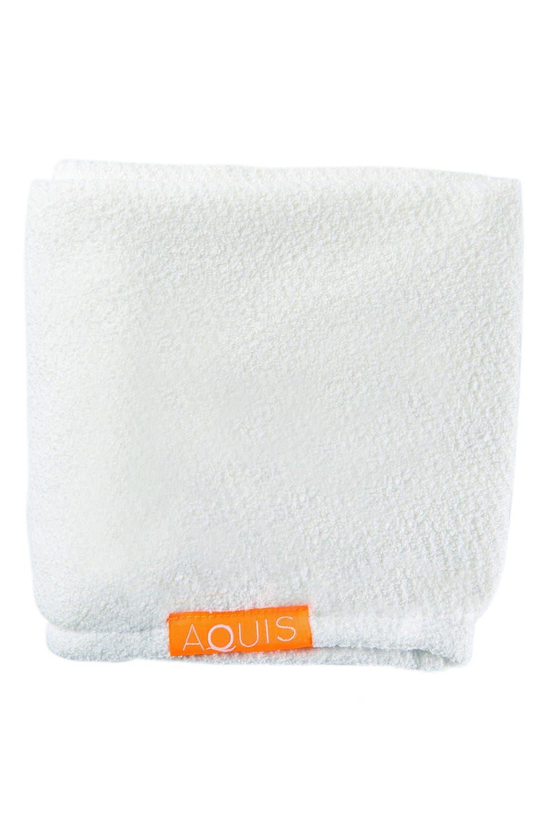 Lisse Luxe White Hair Turban,                             Alternate thumbnail 4, color,