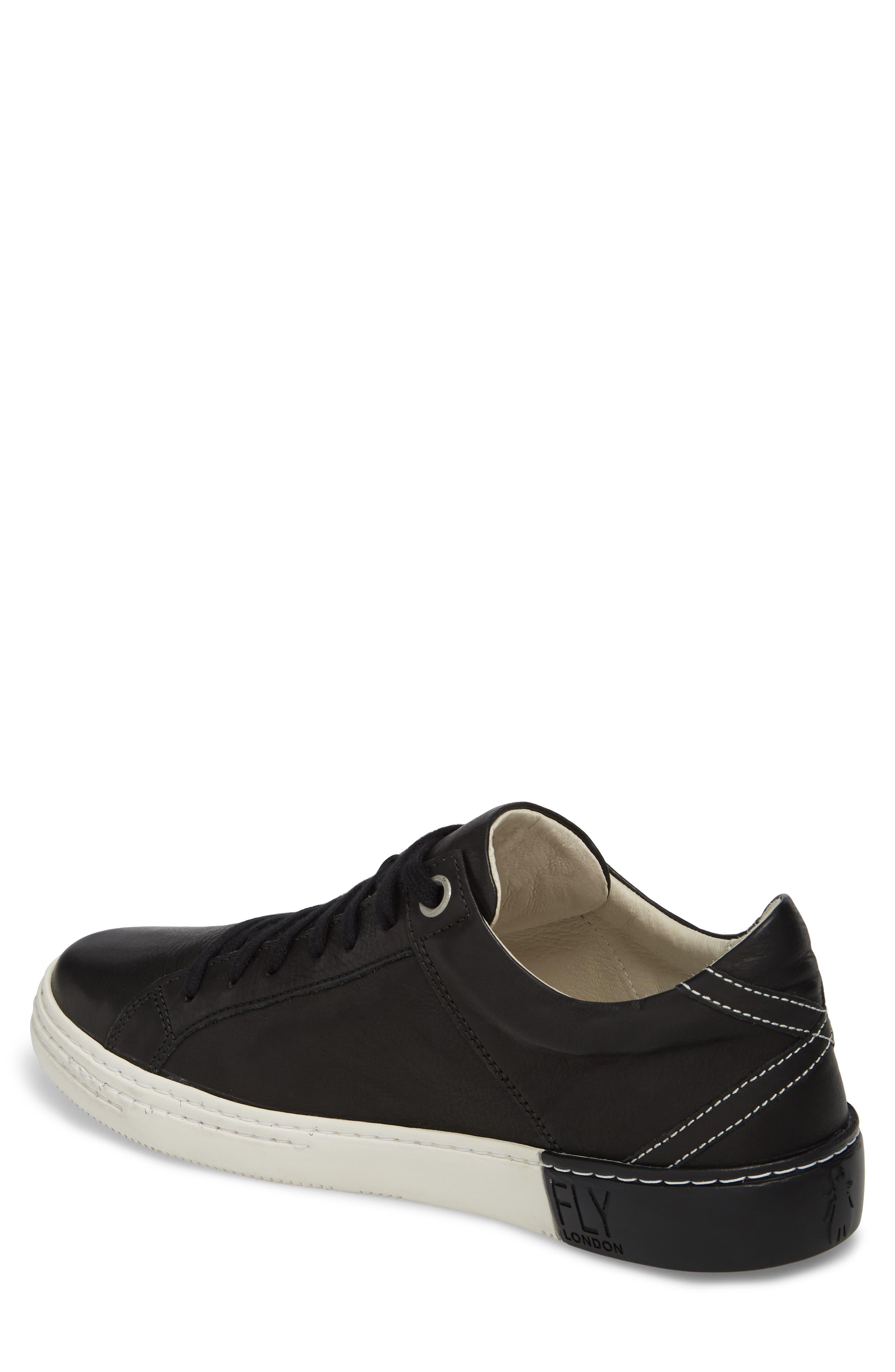 Sene Low Top Sneaker,                             Alternate thumbnail 2, color,                             BLACK LEATHER