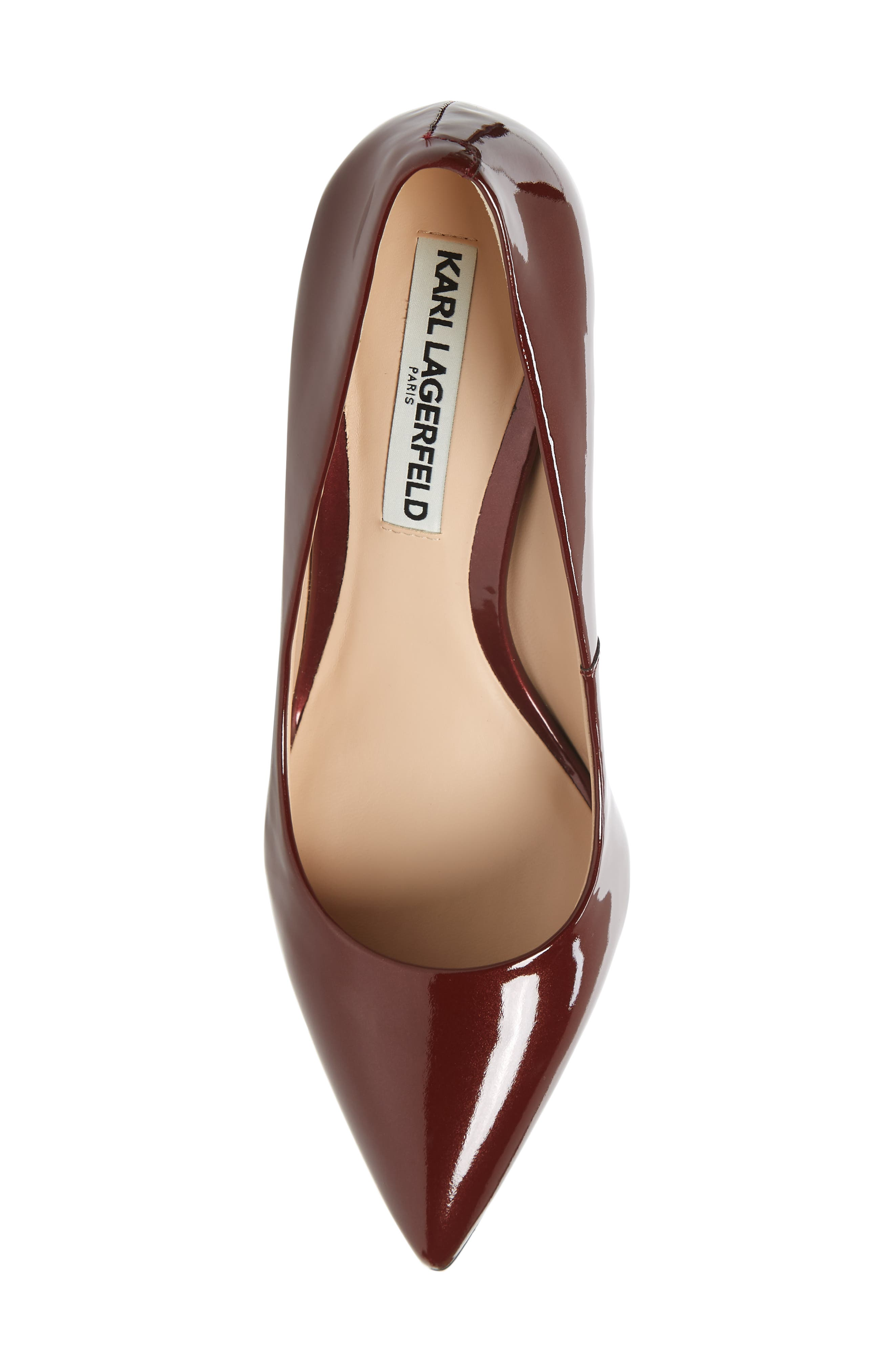 Addie Pump,                             Alternate thumbnail 5, color,                             BURGUNDY PATENT LEATHER