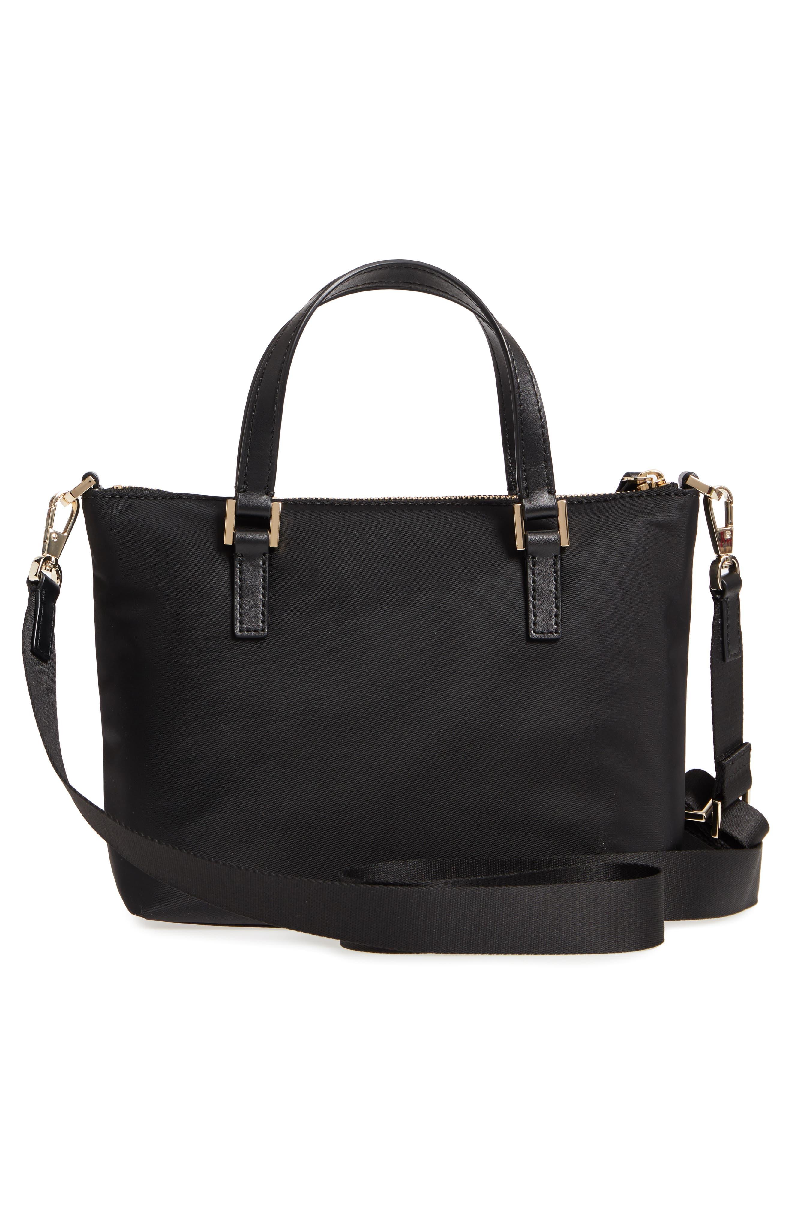 watson lane - lucie nylon crossbody bag,                             Alternate thumbnail 3, color,                             BLACK