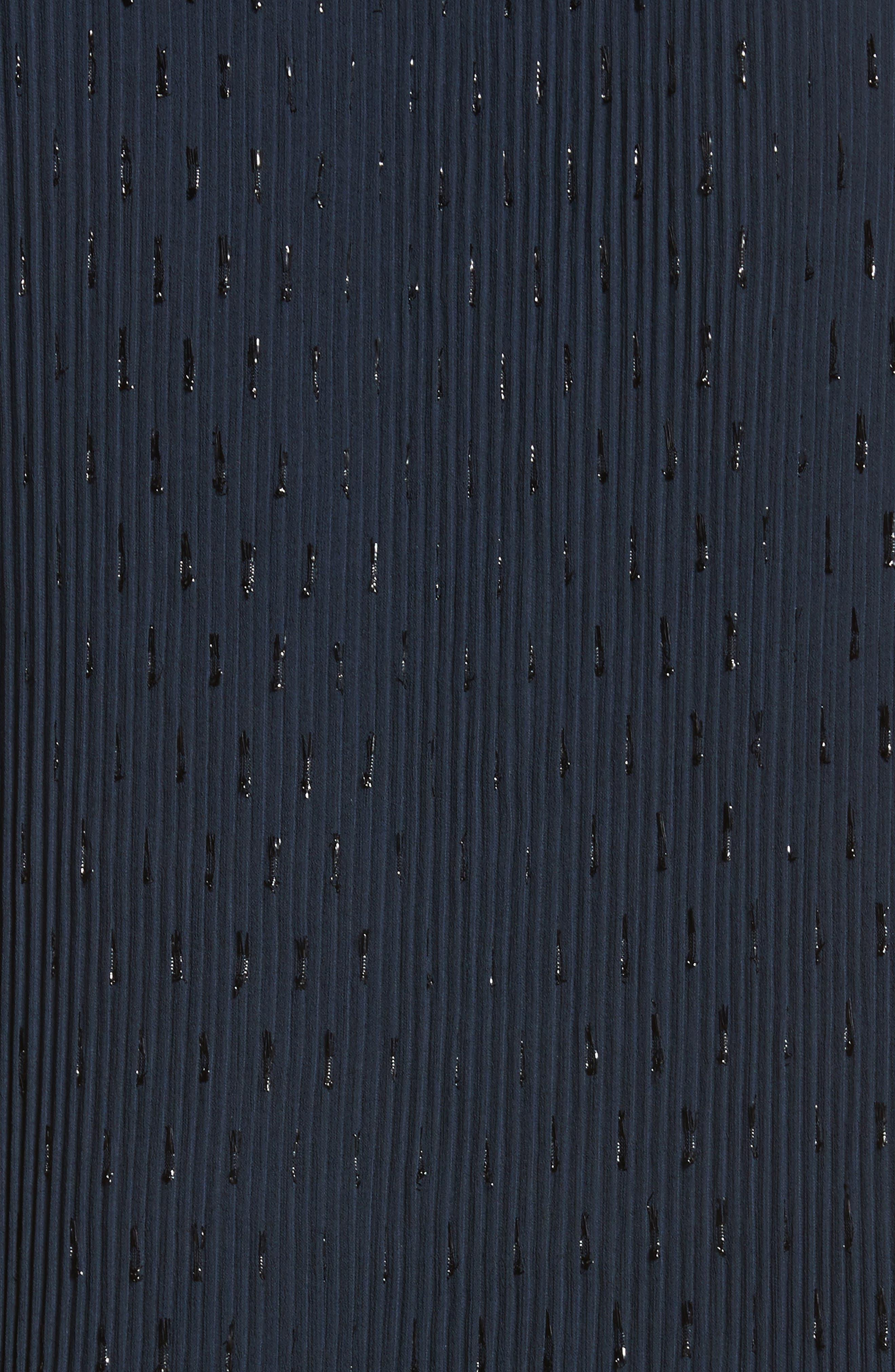 Shimmer Plissé Top,                             Alternate thumbnail 5, color,                             401