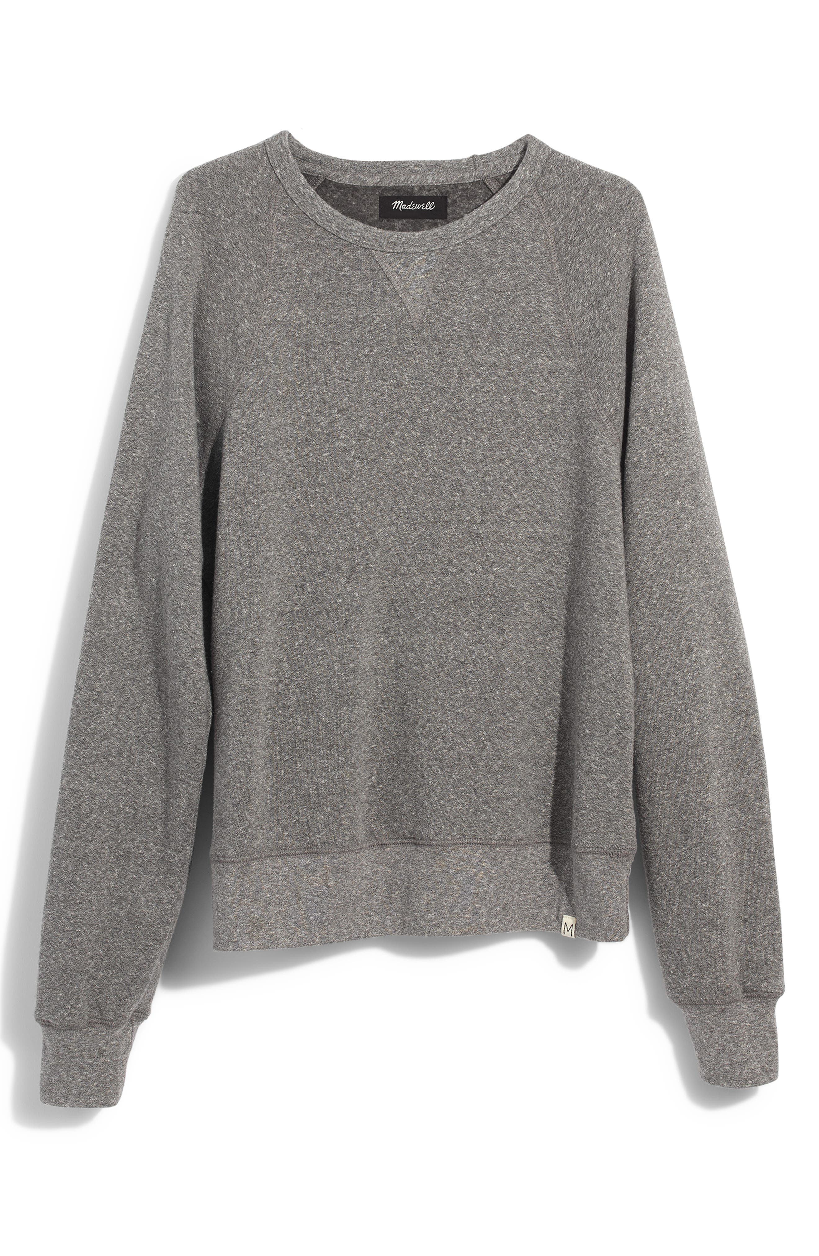 Crewneck Sweatshirt,                             Alternate thumbnail 5, color,                             GREY