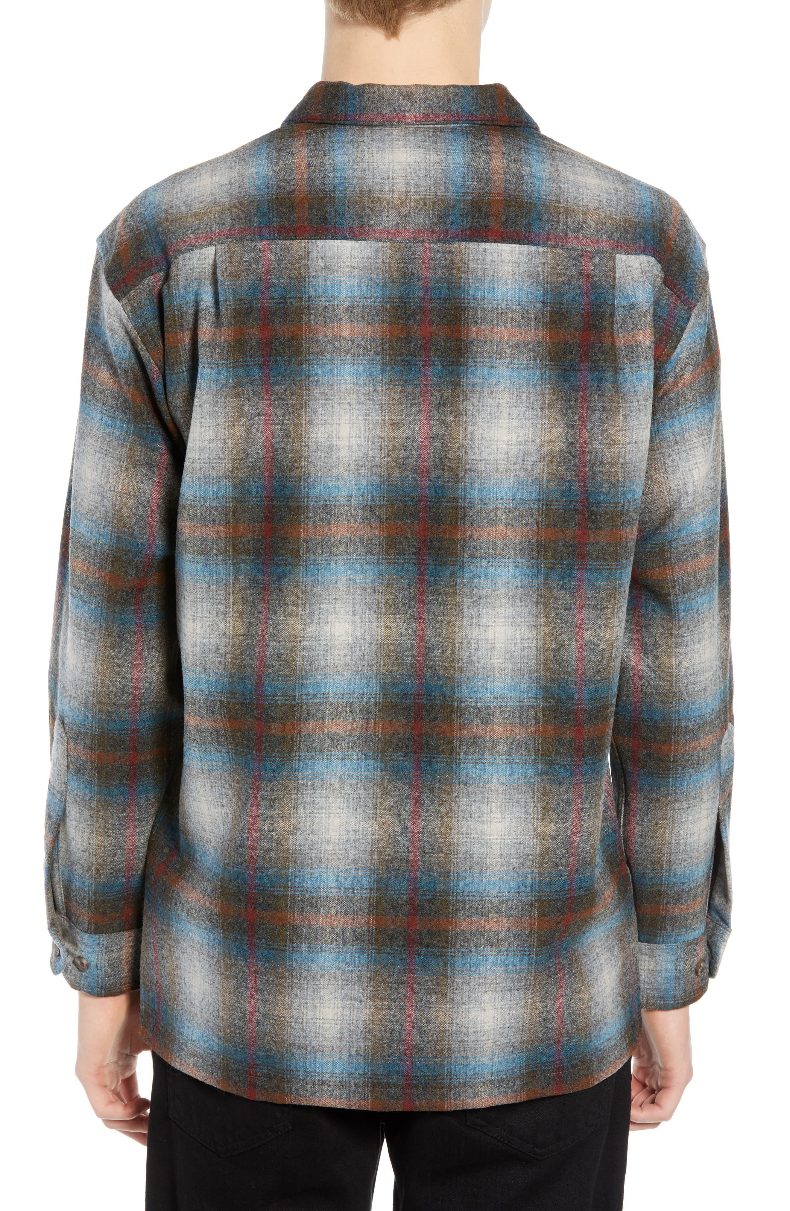 Board Wool Flannel Shirt,                             Alternate thumbnail 3, color,                             MULTI PLAID