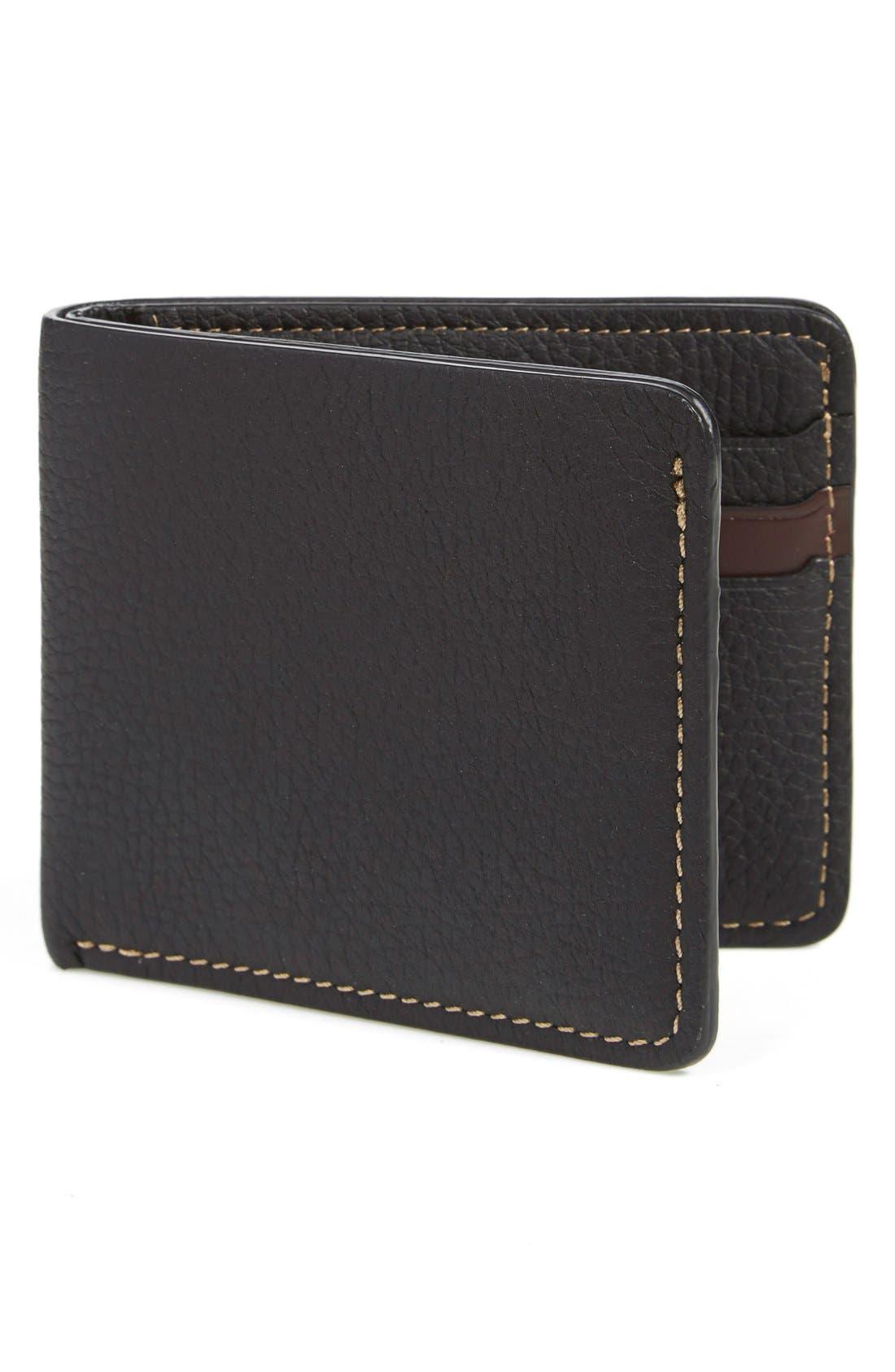 'Jackson' Bison Leather Wallet,                             Main thumbnail 2, color,