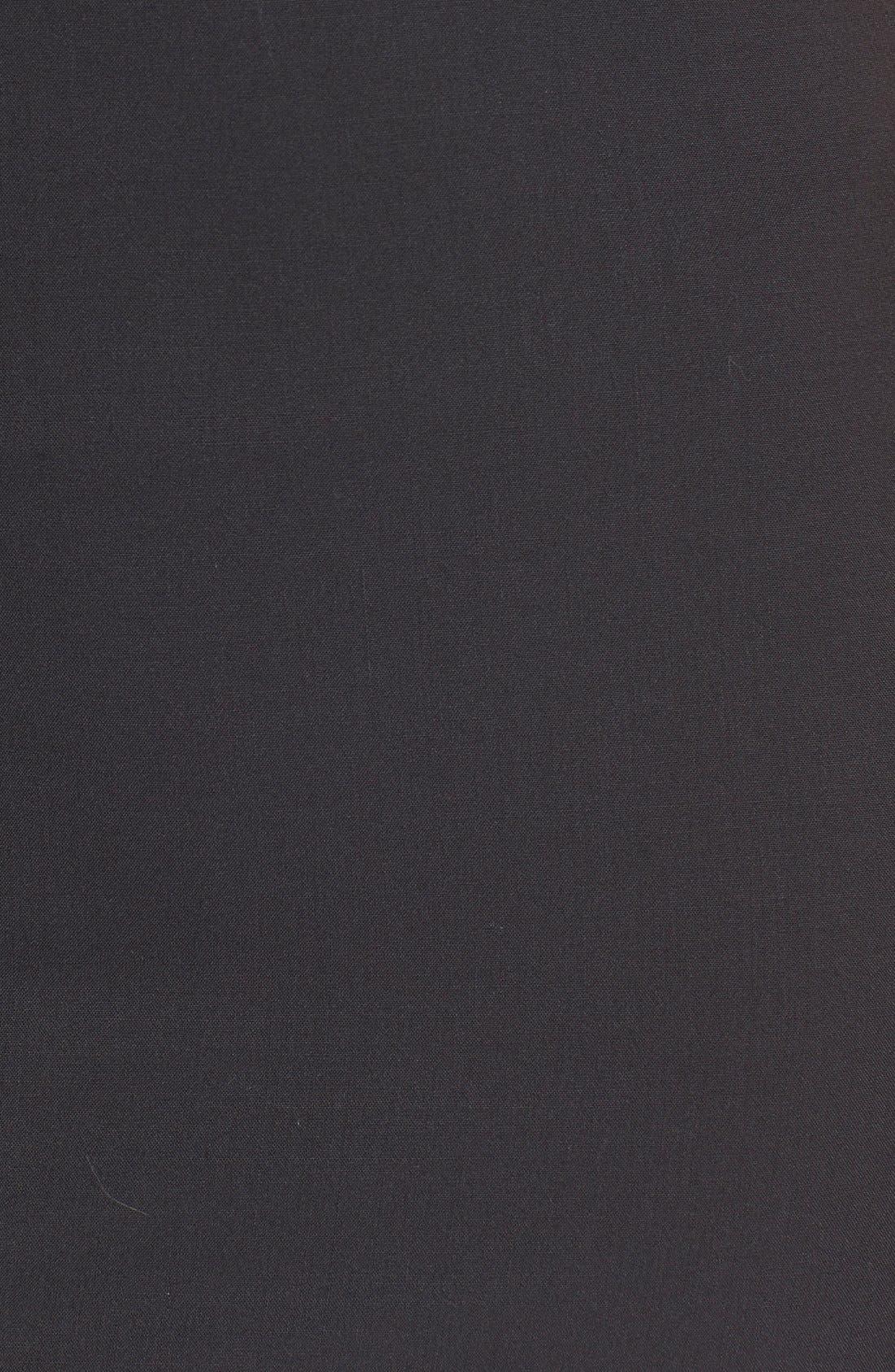 'Betty.2B' Stretch Wool Sheath Dress,                             Alternate thumbnail 4, color,                             BLACK