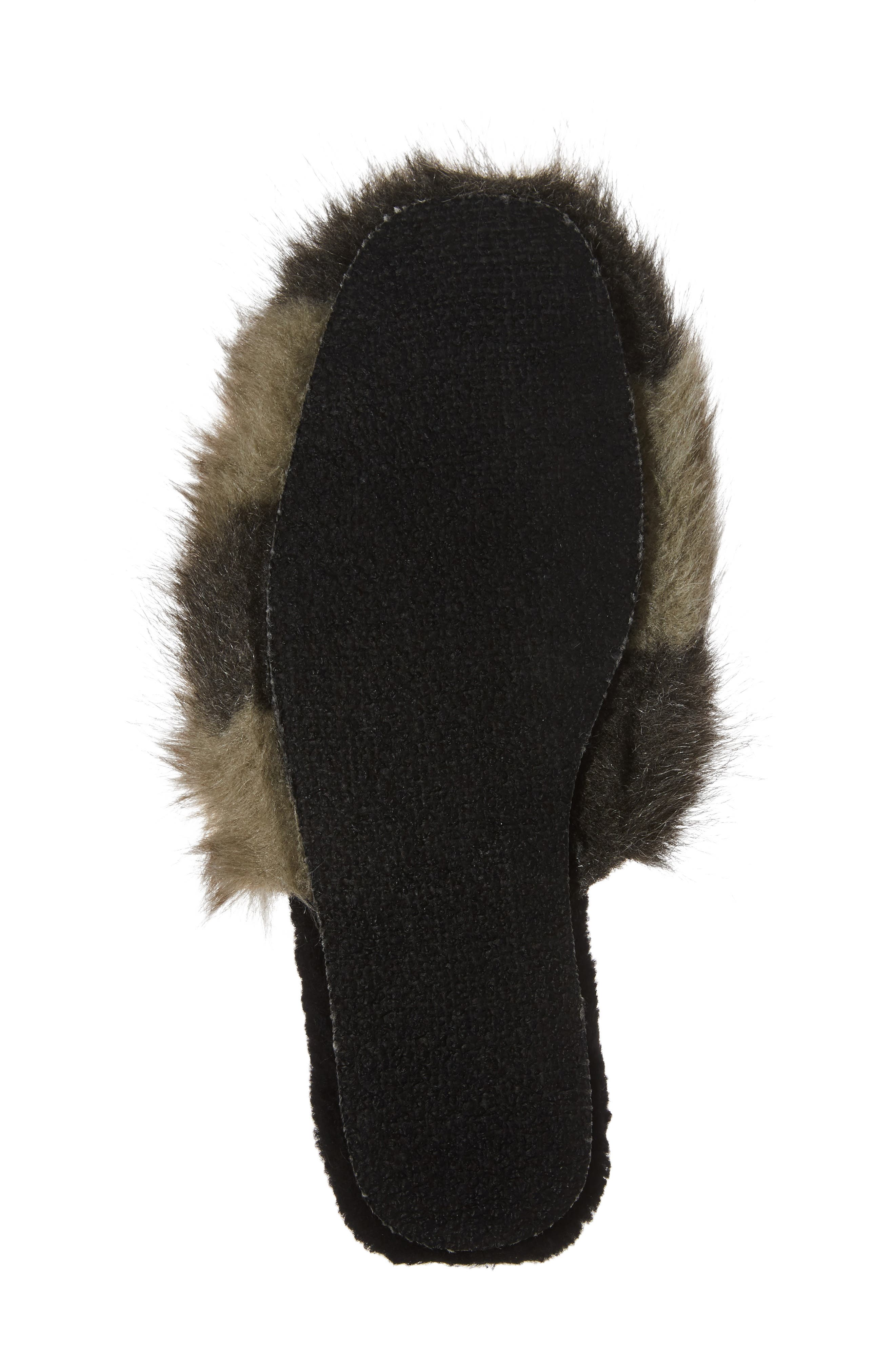 Hideaway Faux Fur Mule,                             Alternate thumbnail 6, color,                             030