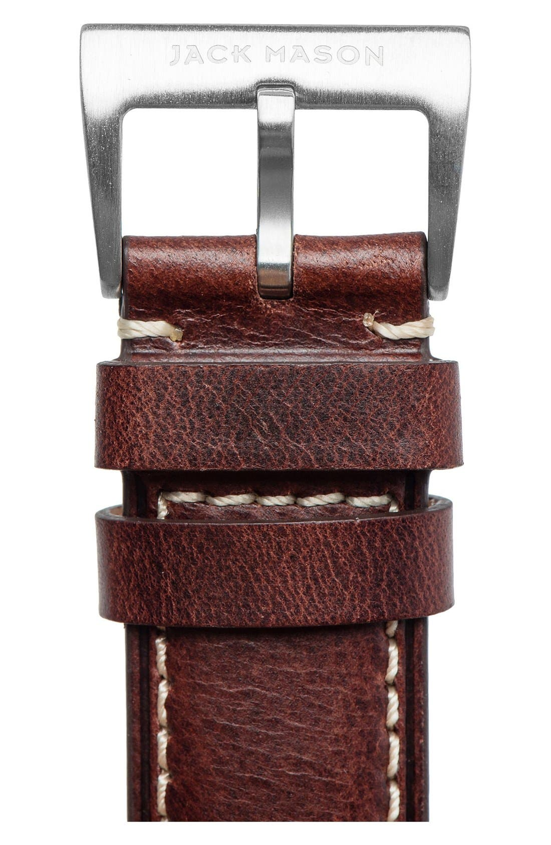 Leather Watch Strap, 22mm,                             Alternate thumbnail 3, color,                             200