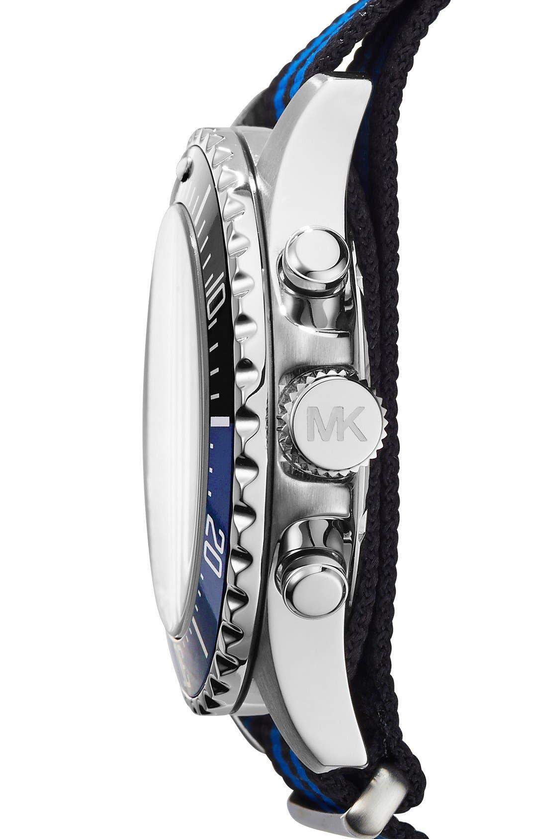 MICHAEL MICHAEL KORS,                             Michael Kors 'Everest' Chronograph NATO Strap Watch, 45mm,                             Alternate thumbnail 2, color,                             040