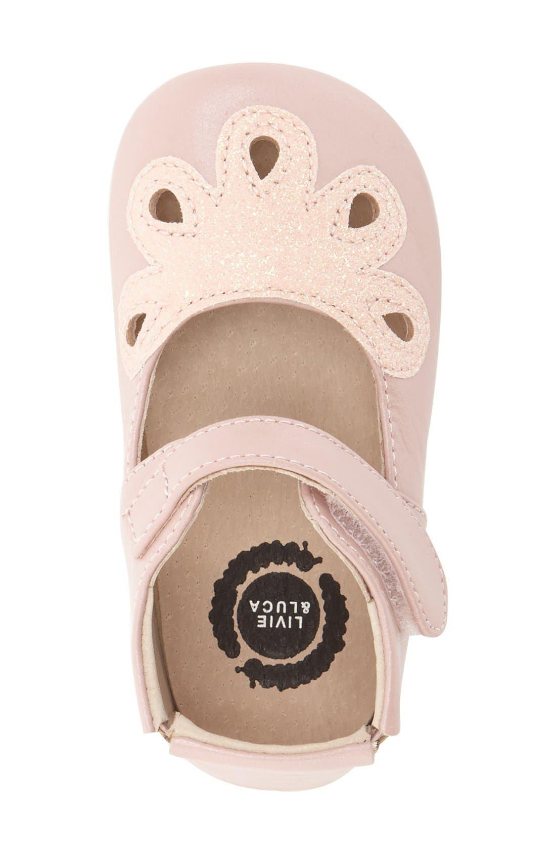 'Petal' Mary Jane Crib Shoe,                             Alternate thumbnail 12, color,