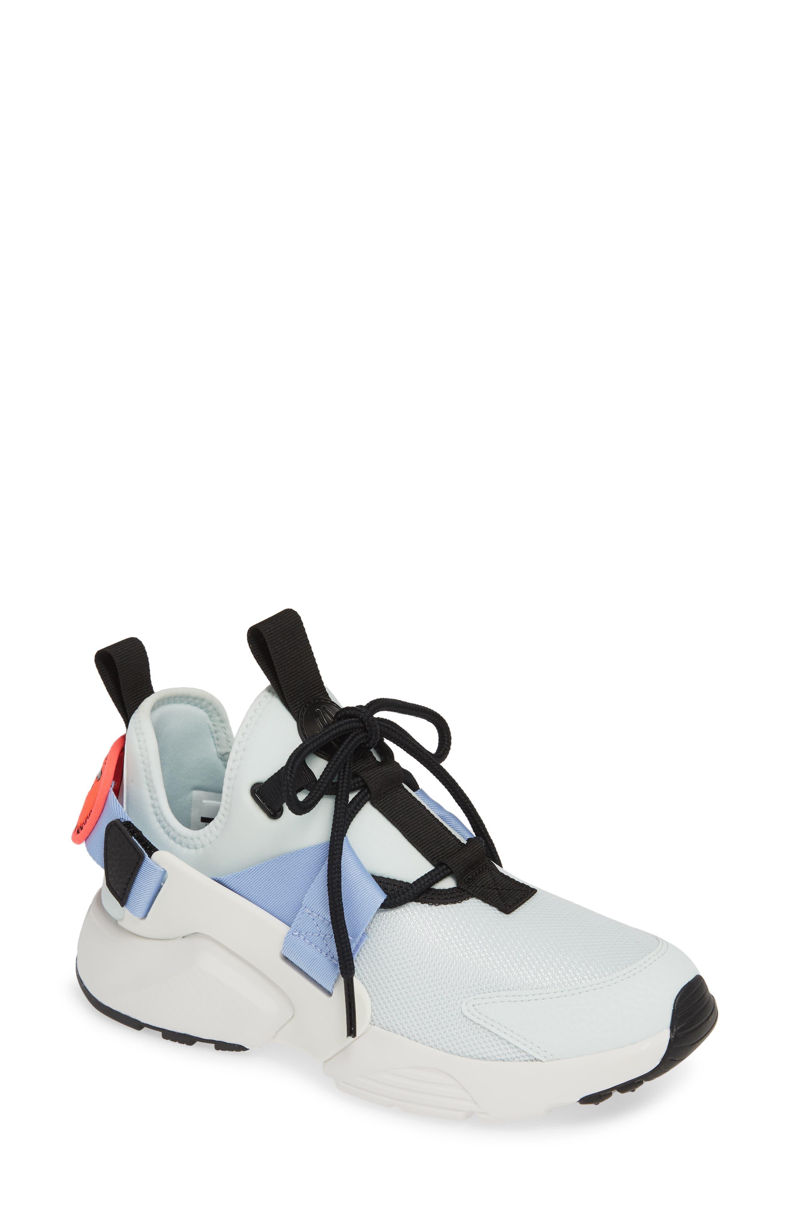 NIKE,                             Air Huarache City Sneaker,                             Main thumbnail 1, color,                             GHOST AQUA/ BLACK/ WHITE