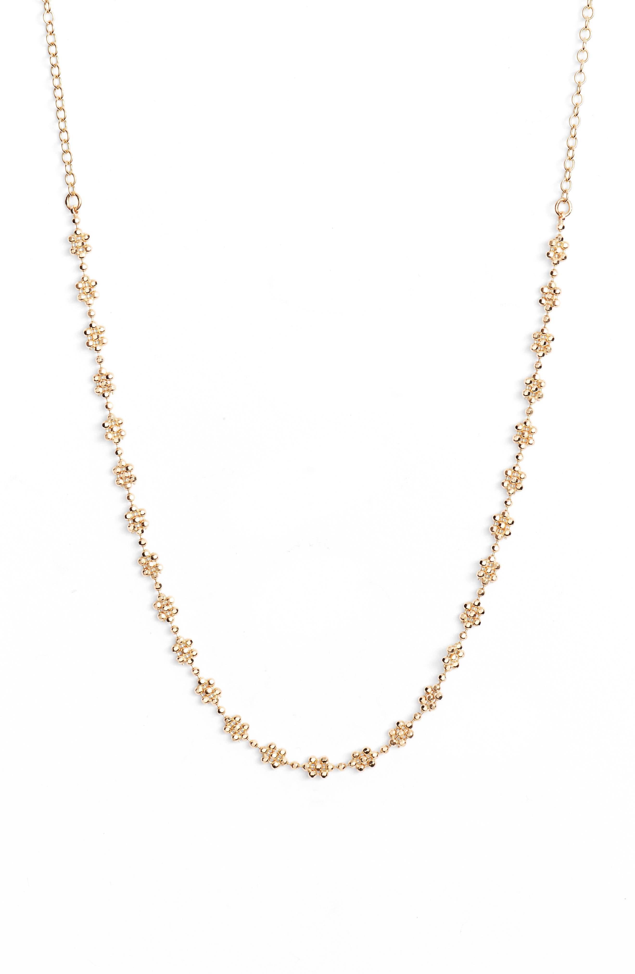 Shimmer Flower Choker Necklace,                             Main thumbnail 1, color,                             710