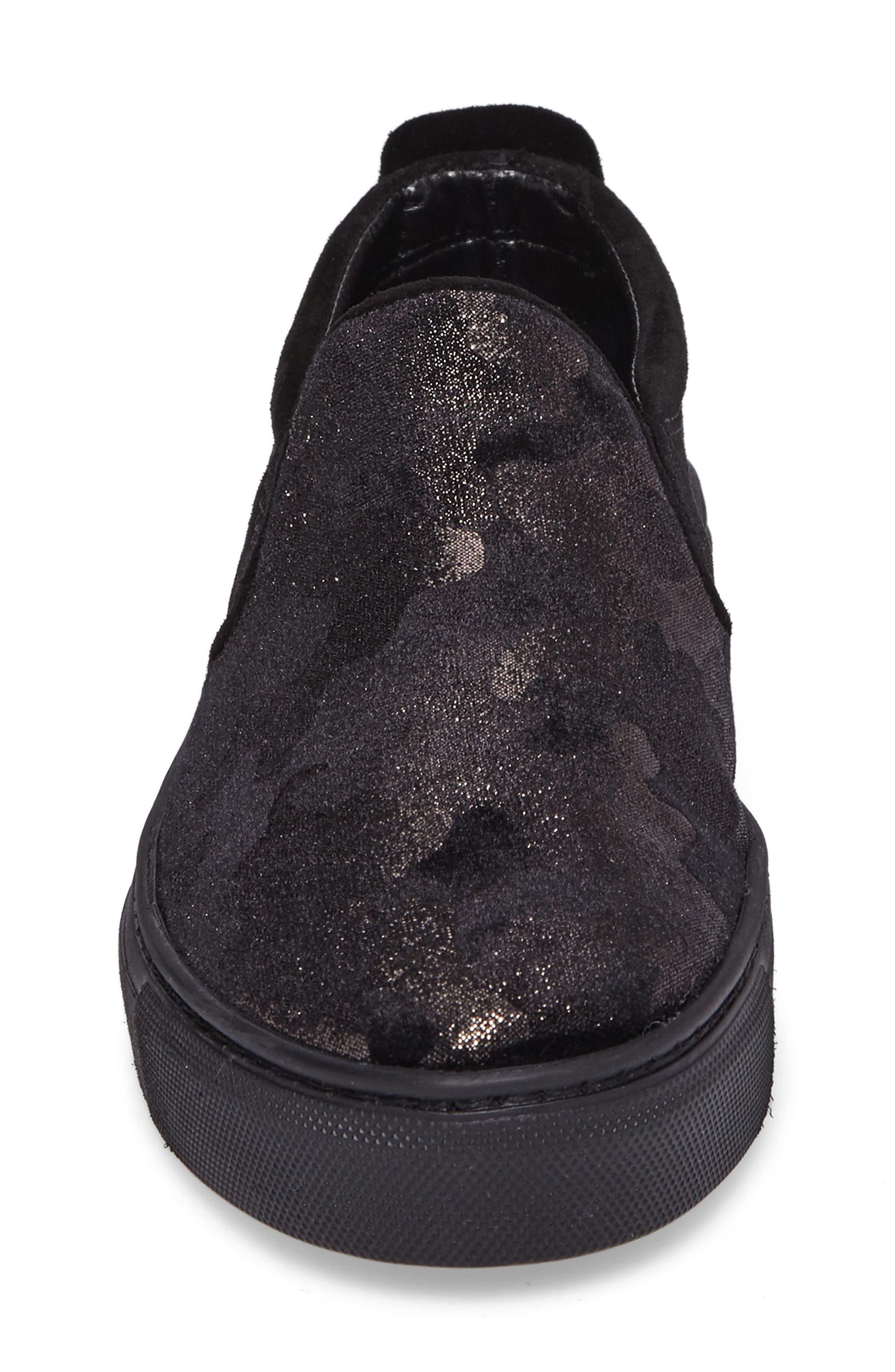 Full Time Sneaker,                             Alternate thumbnail 4, color,                             BLACK SUEDE