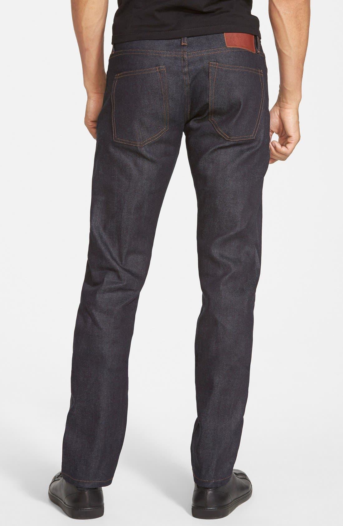 'UB122' Skinny Fit Raw Selvedge Jeans,                             Alternate thumbnail 3, color,                             401