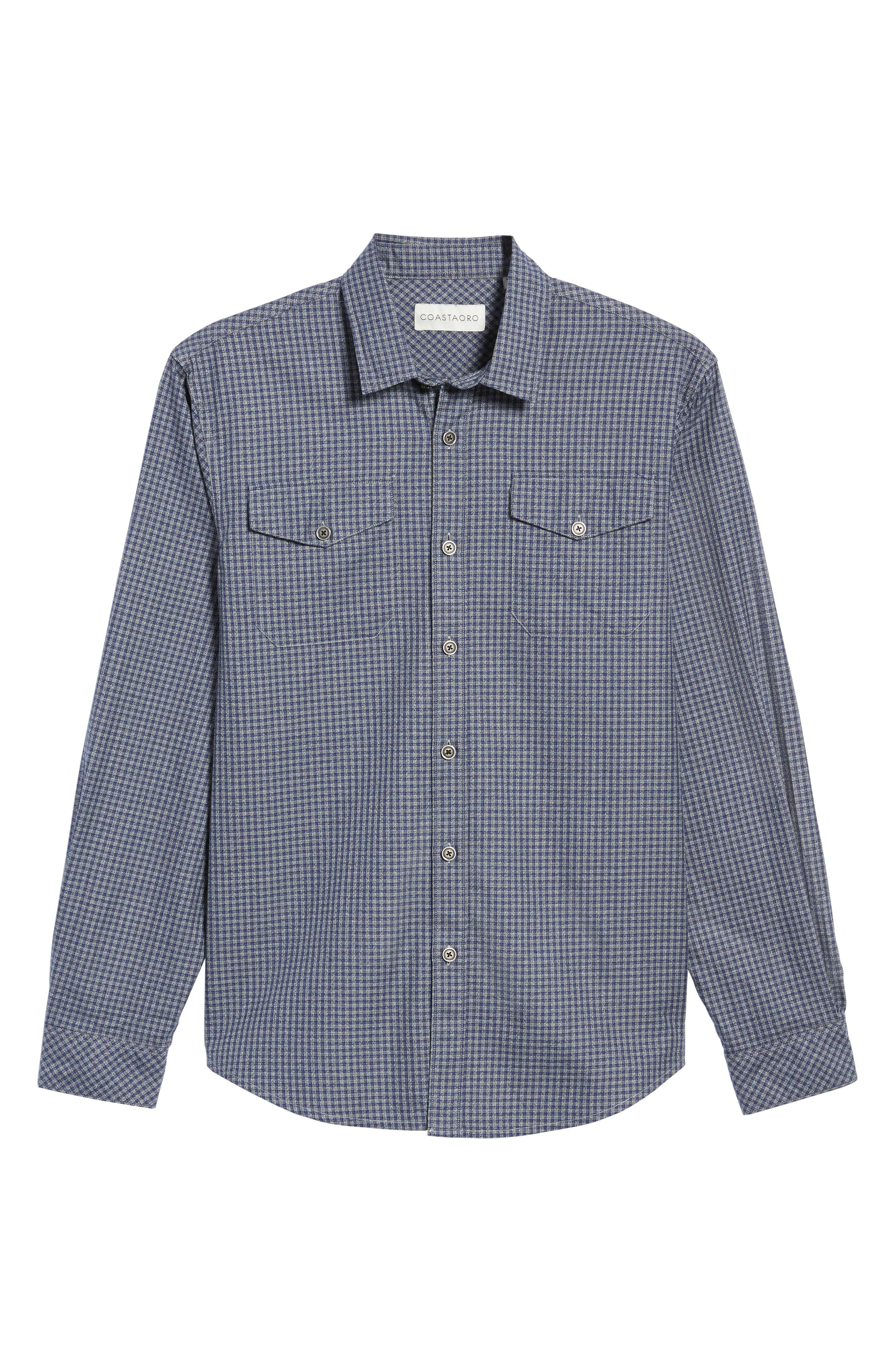 Main Street Check Flannel Shirt,                             Alternate thumbnail 6, color,                             405
