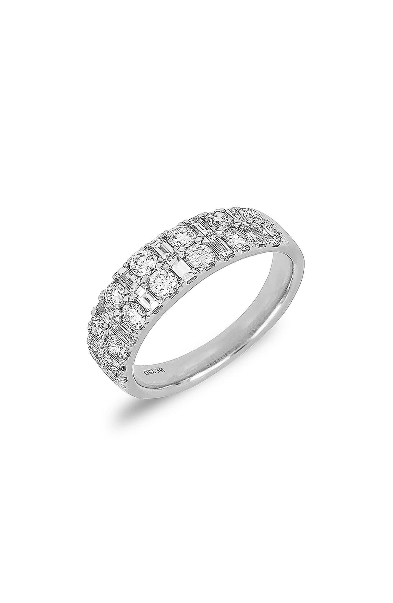 Kiera Multi Shape Diamond Ring,                             Alternate thumbnail 2, color,                             WHITE GOLD