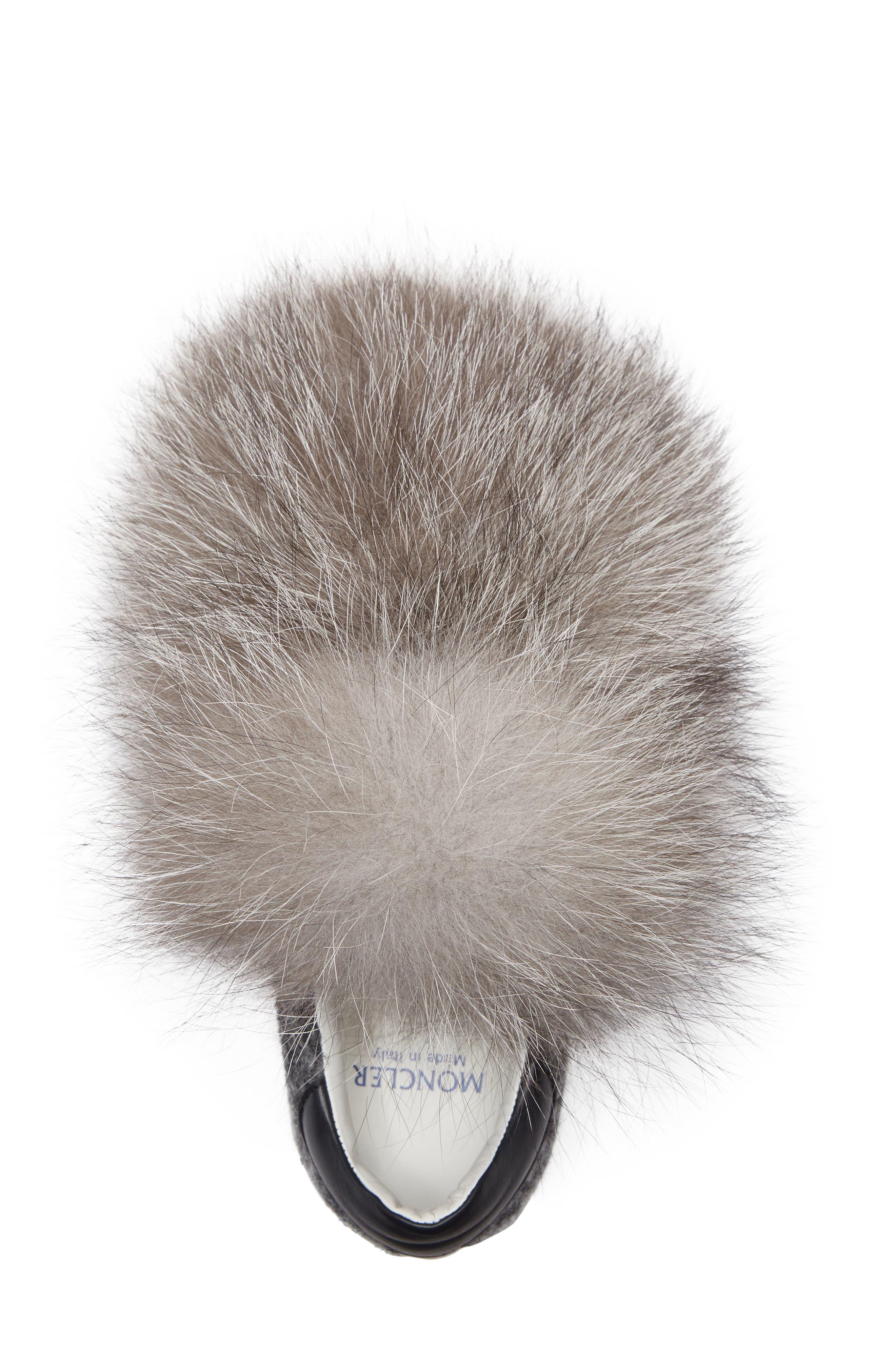 Victoire Genuine Fox Fur Slip-On Sneaker,                             Alternate thumbnail 5, color,                             020