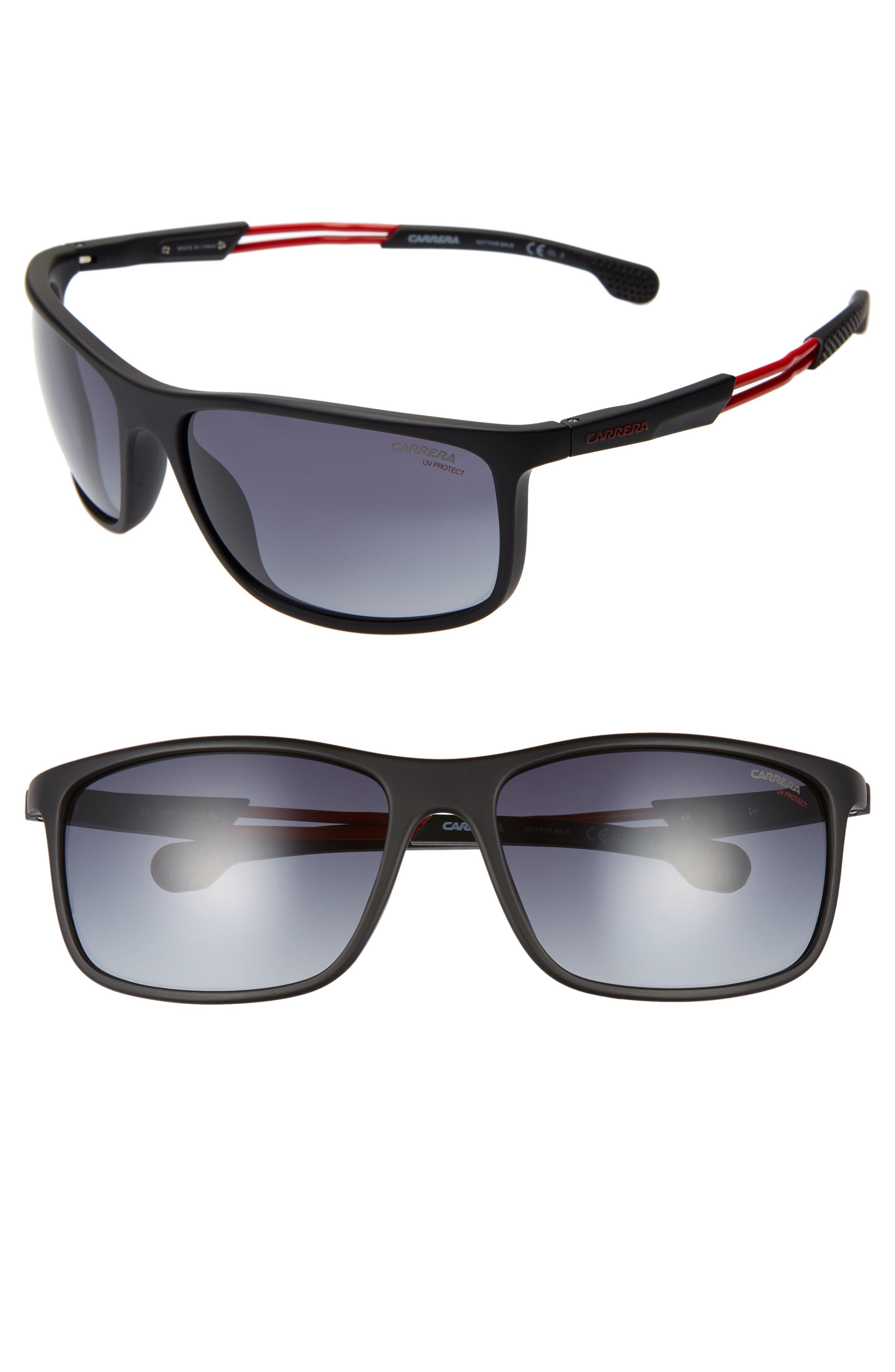 Carrera Eyewear 62Mm Wrap Sunglasses - Matte Black/gray Gradient