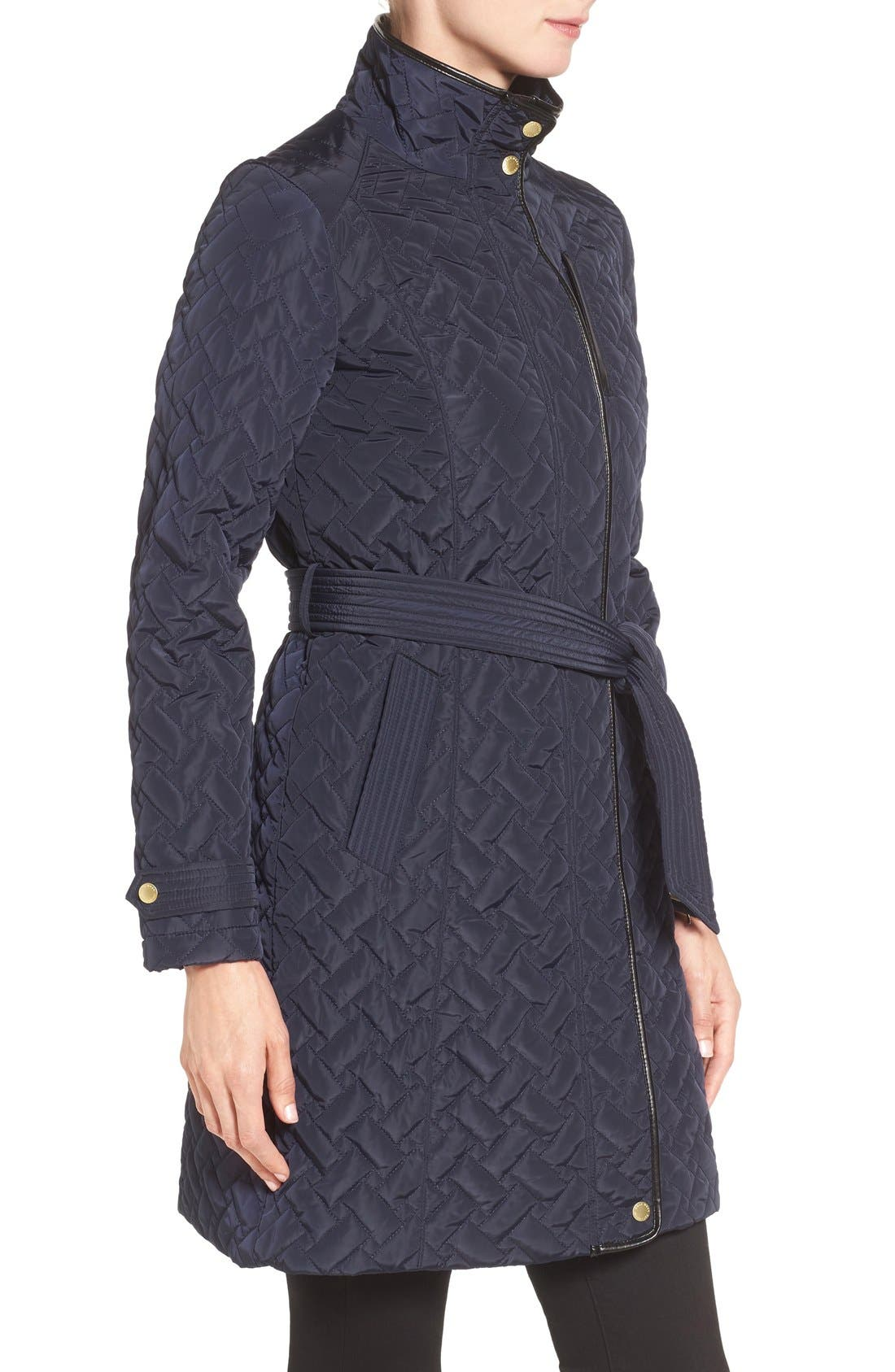 Belted Quilted Coat,                             Alternate thumbnail 18, color,