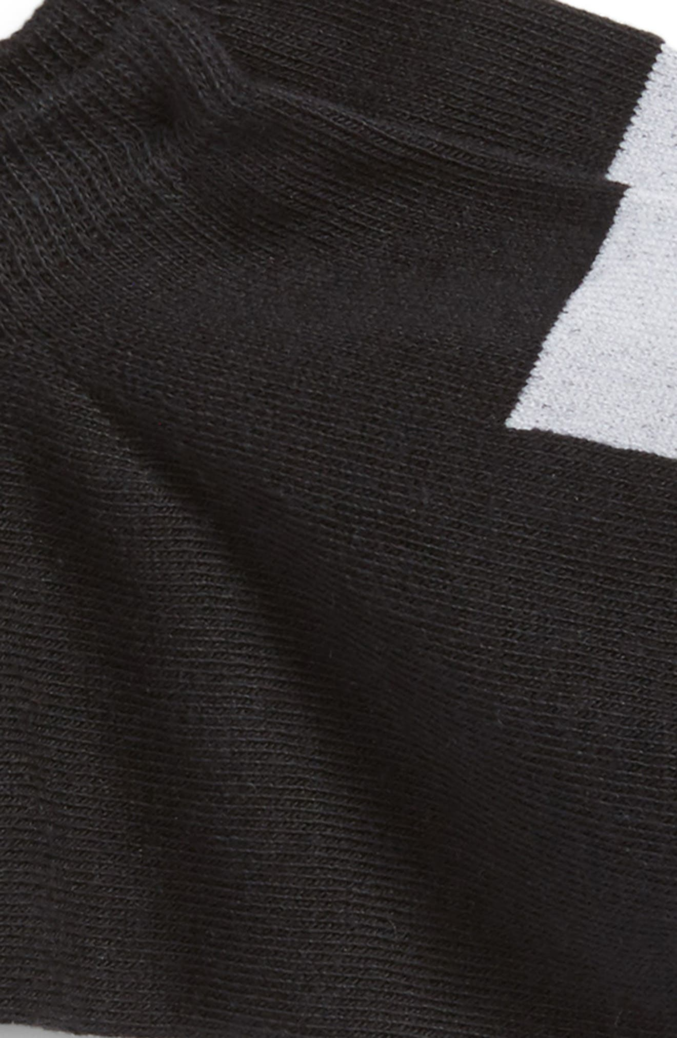 New Gen Logo No-Show Socks,                             Alternate thumbnail 2, color,                             BLACK
