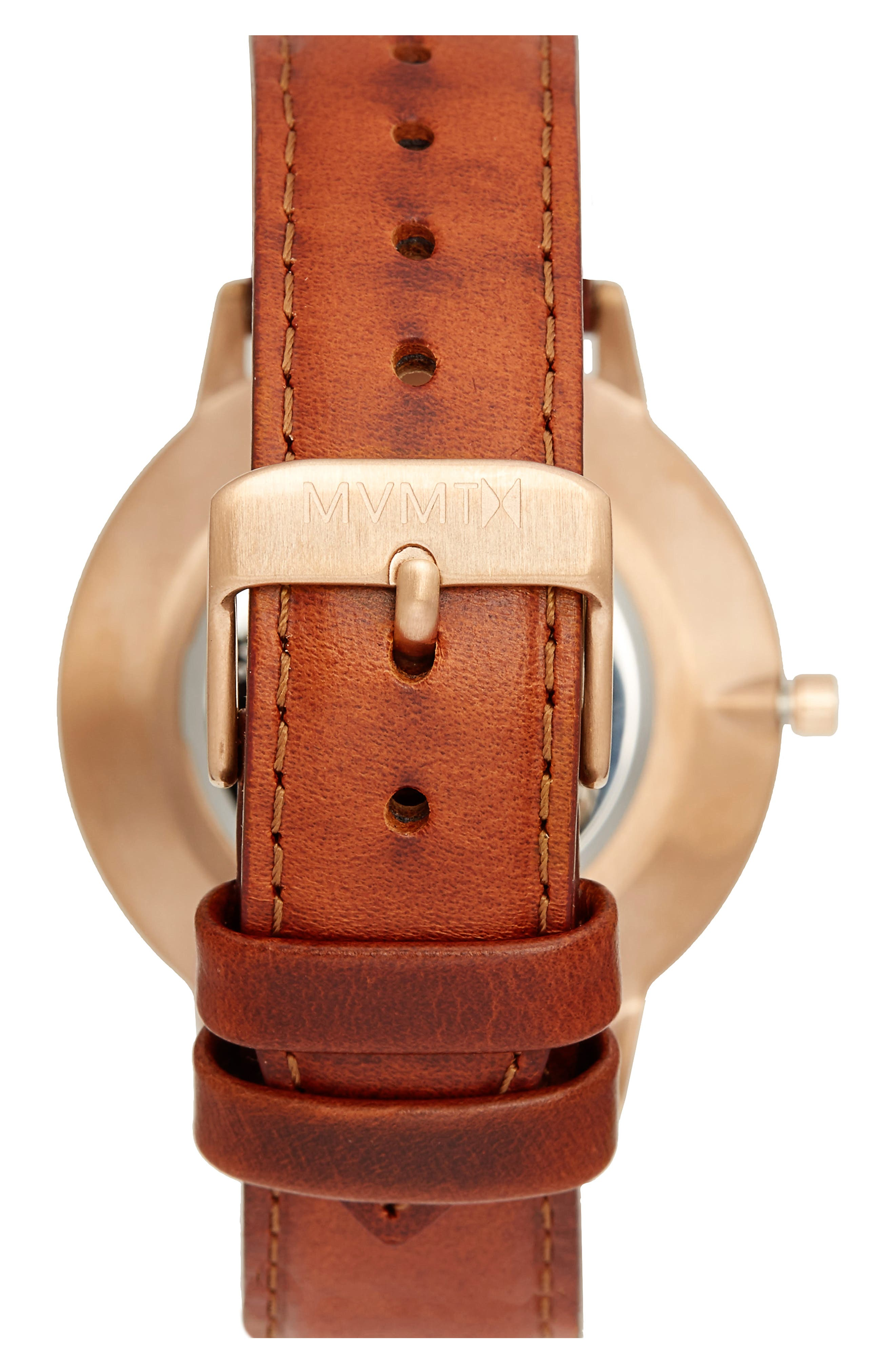 Boulevard Leather Strap Watch, 38mm,                             Alternate thumbnail 2, color,                             BROWN/ WHITE/ GOLD