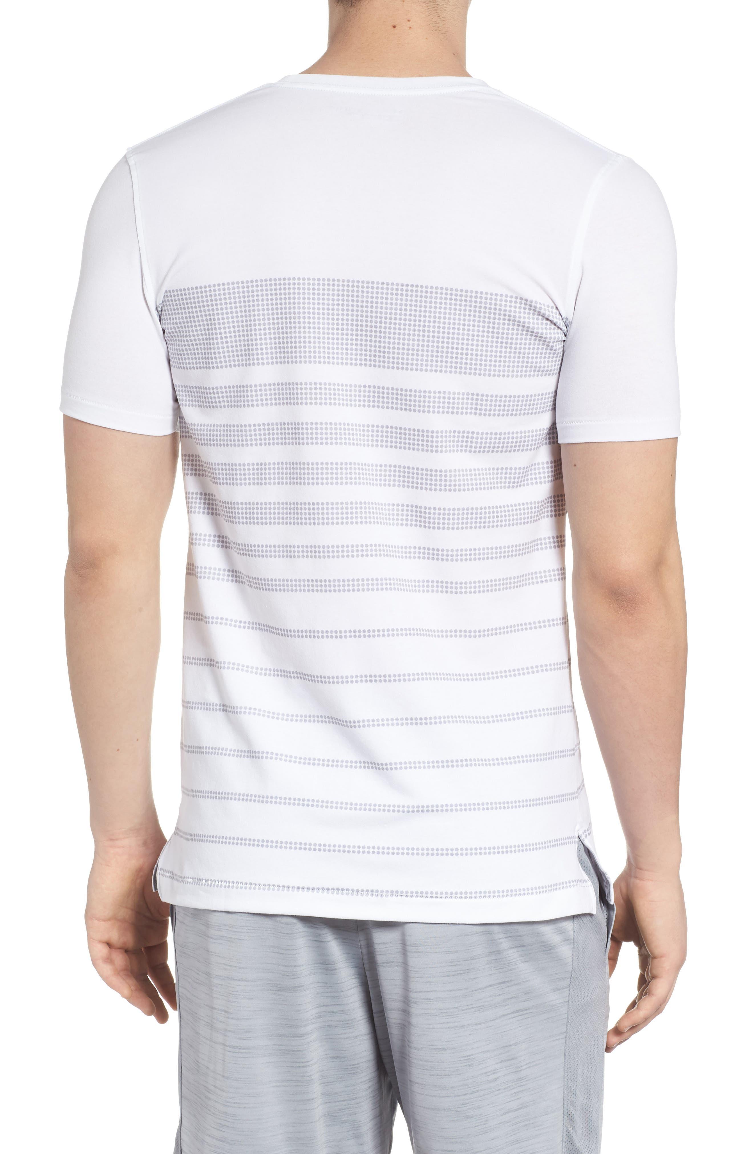 Sportstyle Crewneck T-Shirt,                             Alternate thumbnail 2, color,                             WHITE / OVERCAST GREH
