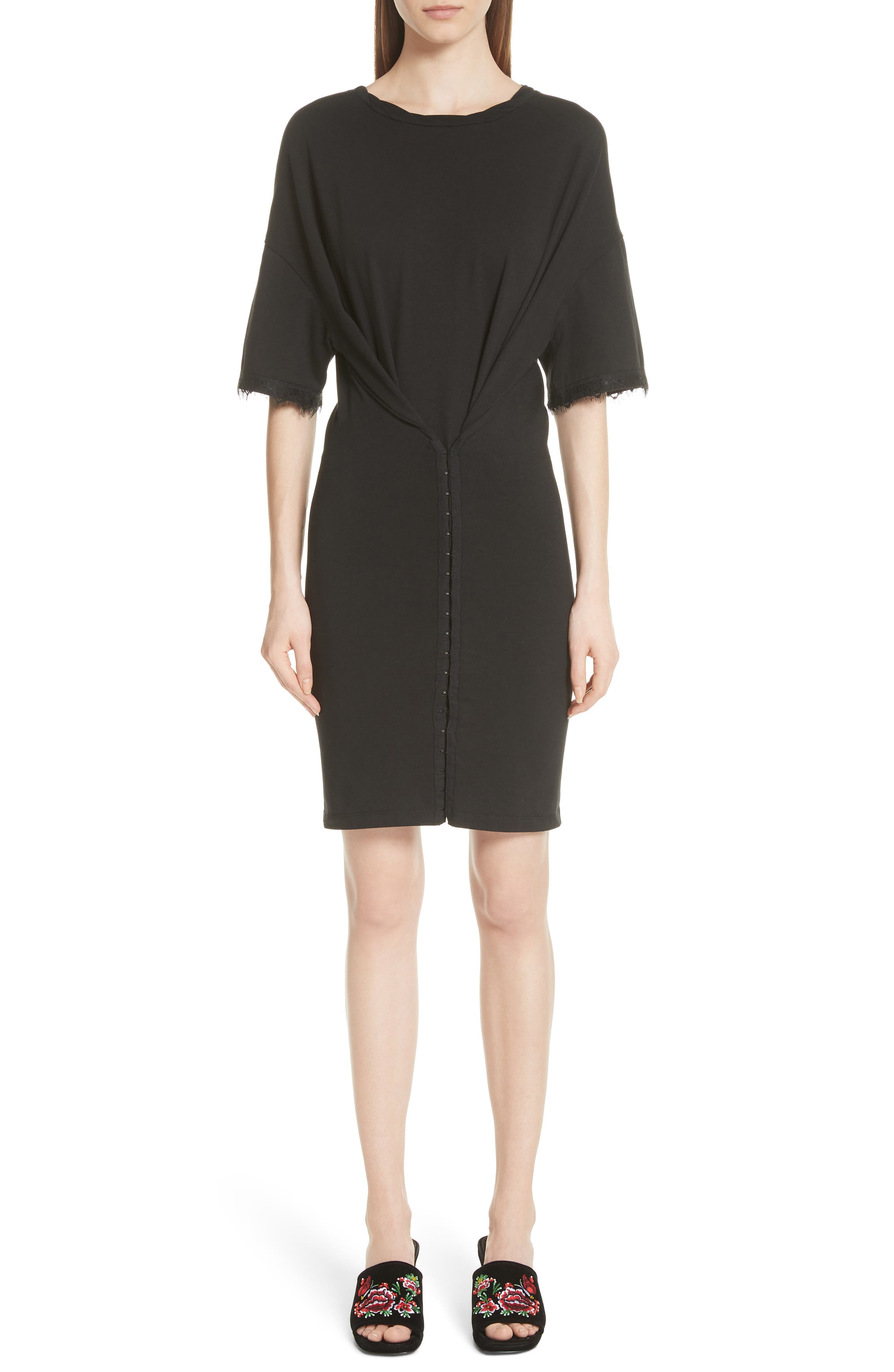OPENING CEREMONY,                             Hook-and-Eye T-Shirt Dress,                             Alternate thumbnail 3, color,                             014