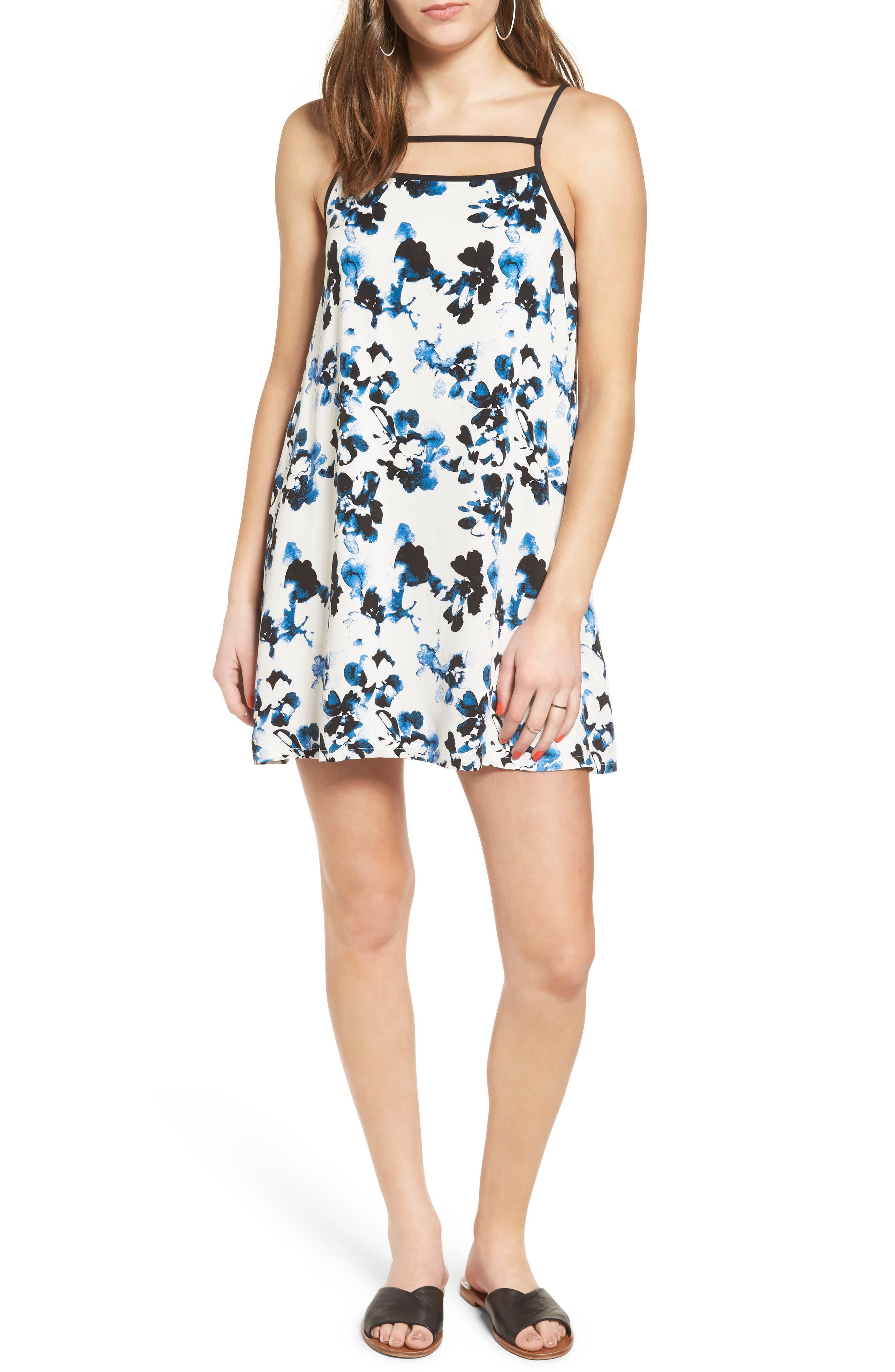 Habits Floral Print Dress, Main, color, 100